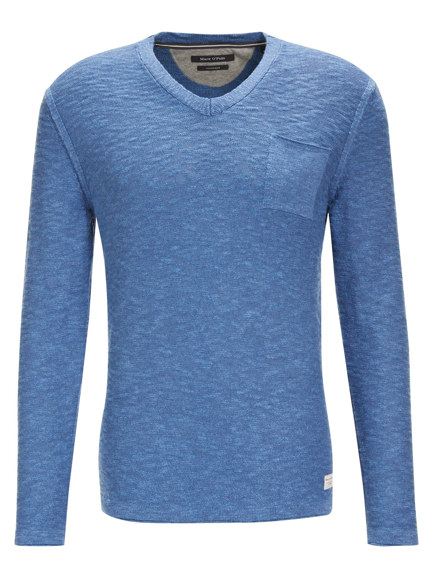 marc o 39 polo knitted sweater in blue for men lyst. Black Bedroom Furniture Sets. Home Design Ideas