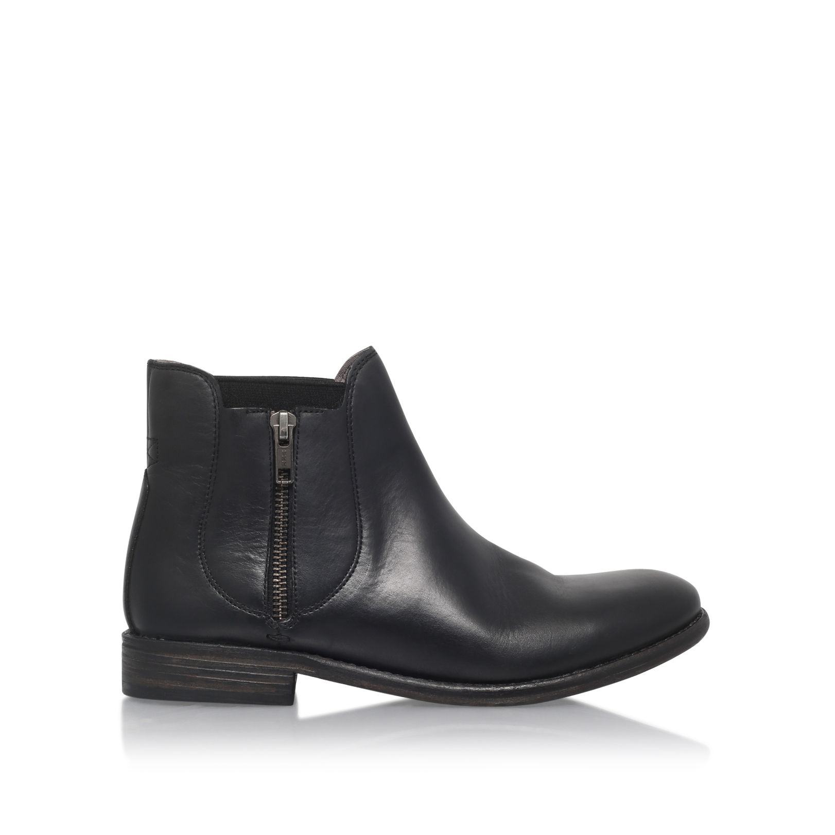 h by hudson algoma low heel ankle boots in black lyst