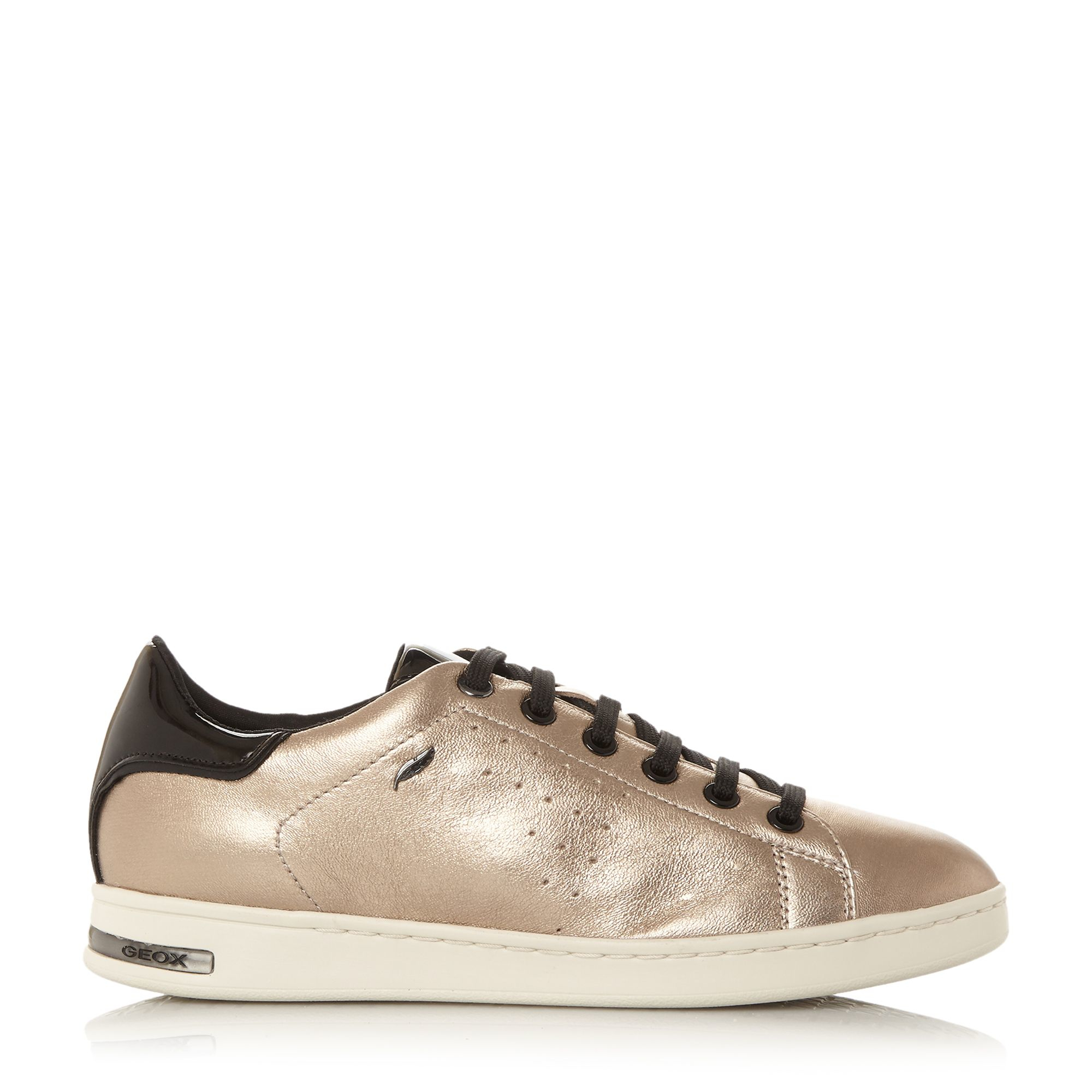 Geox Leather D Jaysen Cupsole Trainers