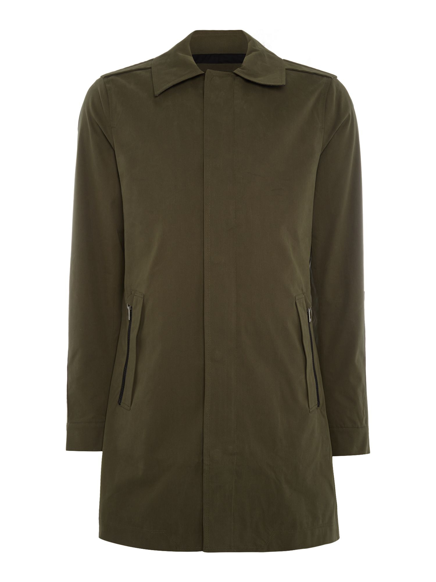 Calvin Klein Cotton Artis Mac Jacket In Olive Green For
