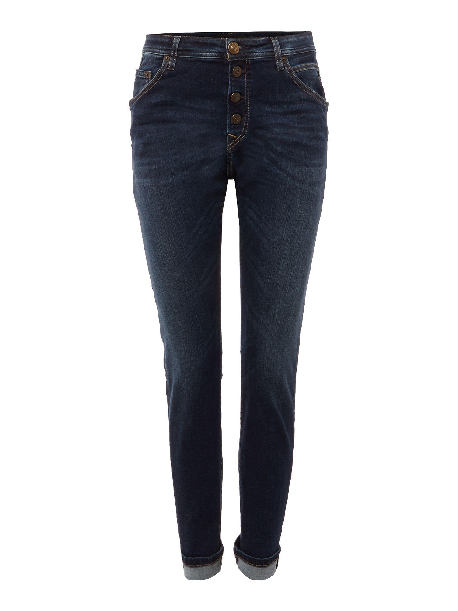 replay pilar boyfriend jeans in blue lyst. Black Bedroom Furniture Sets. Home Design Ideas