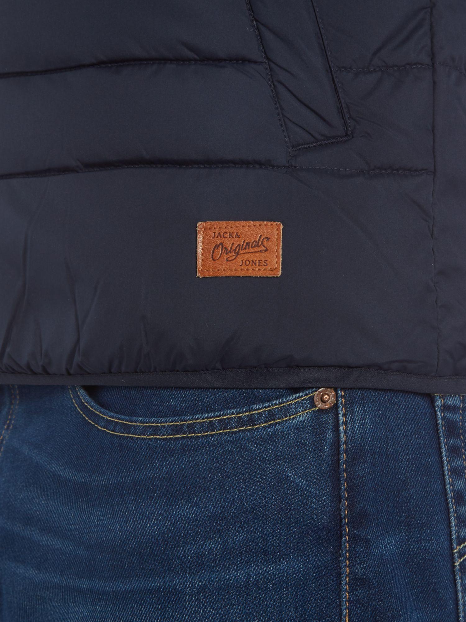 Jack & Jones Synthetic Hooded Padded Jacket in Blue for Men