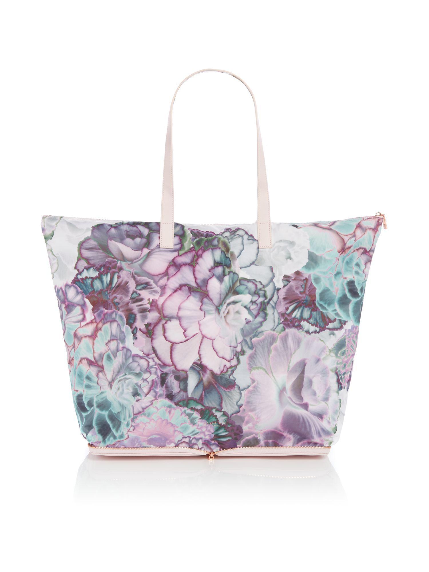 Ted Baker Aynara Foldaway Shopper Bag In Gray Lyst