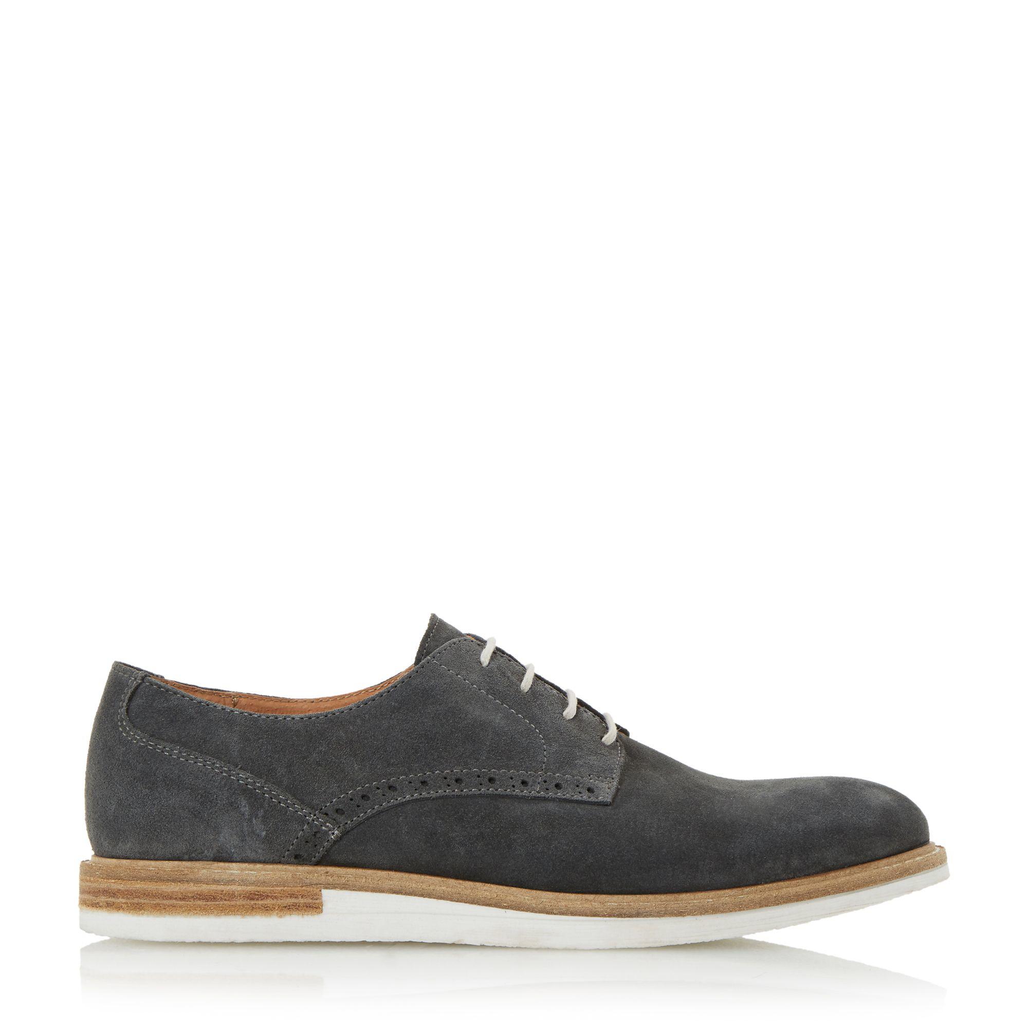 Dune Suede Boxpark Venerr Wedge Gibson Shoes in Grey (Grey) for Men