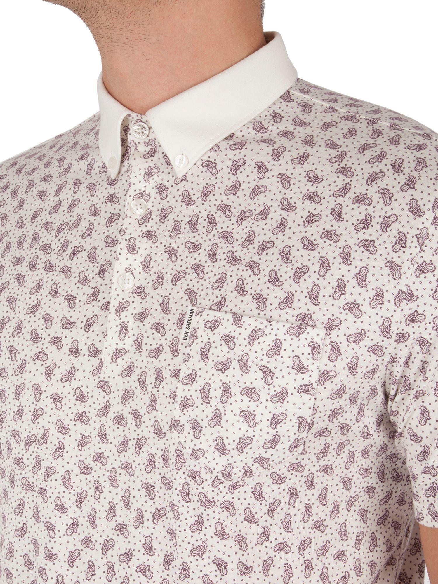 Ben Sherman Cotton Printed Paisley Polo for Men
