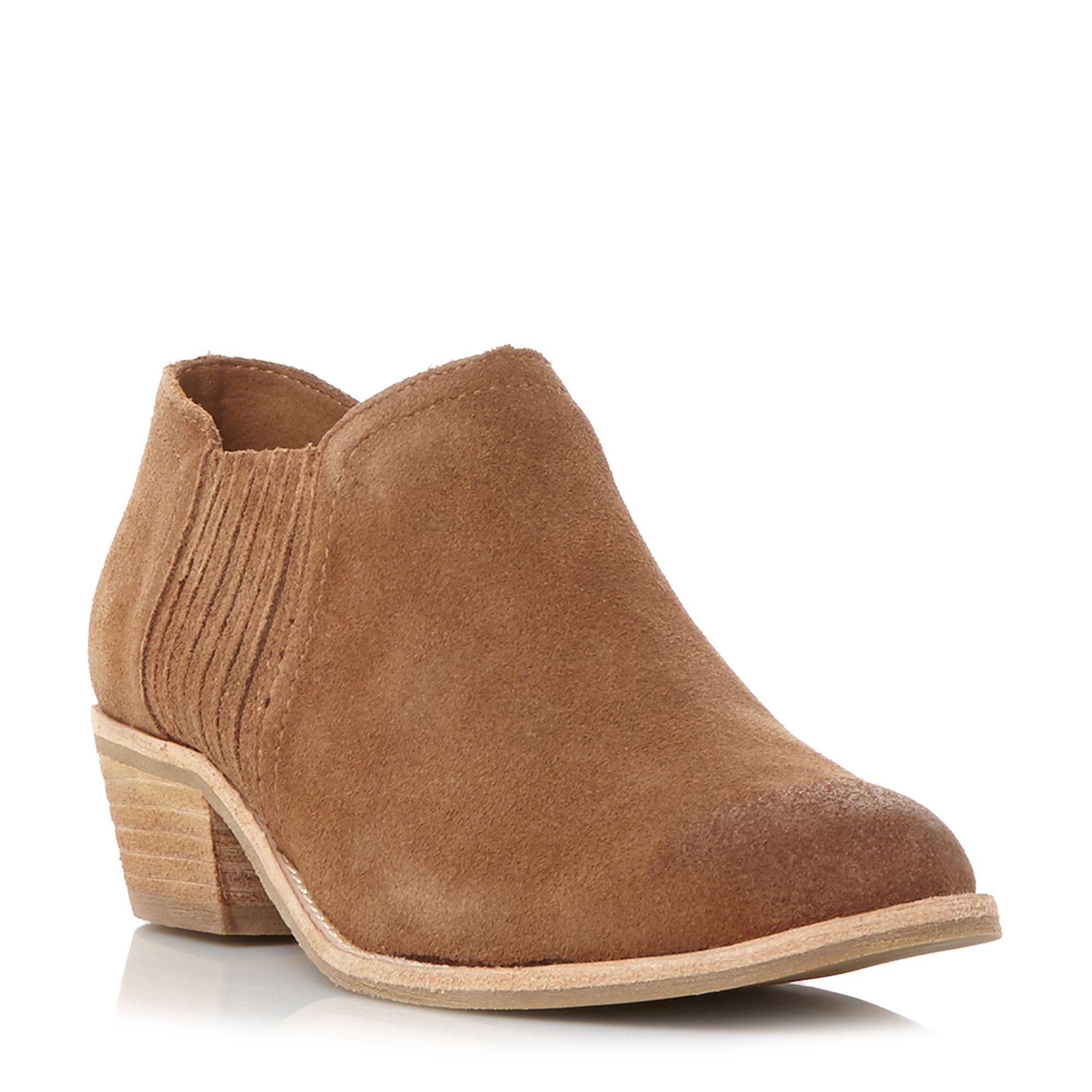 9e65661fcd2 Lyst - Steve Madden Court Gussett Detail Shoe Boots