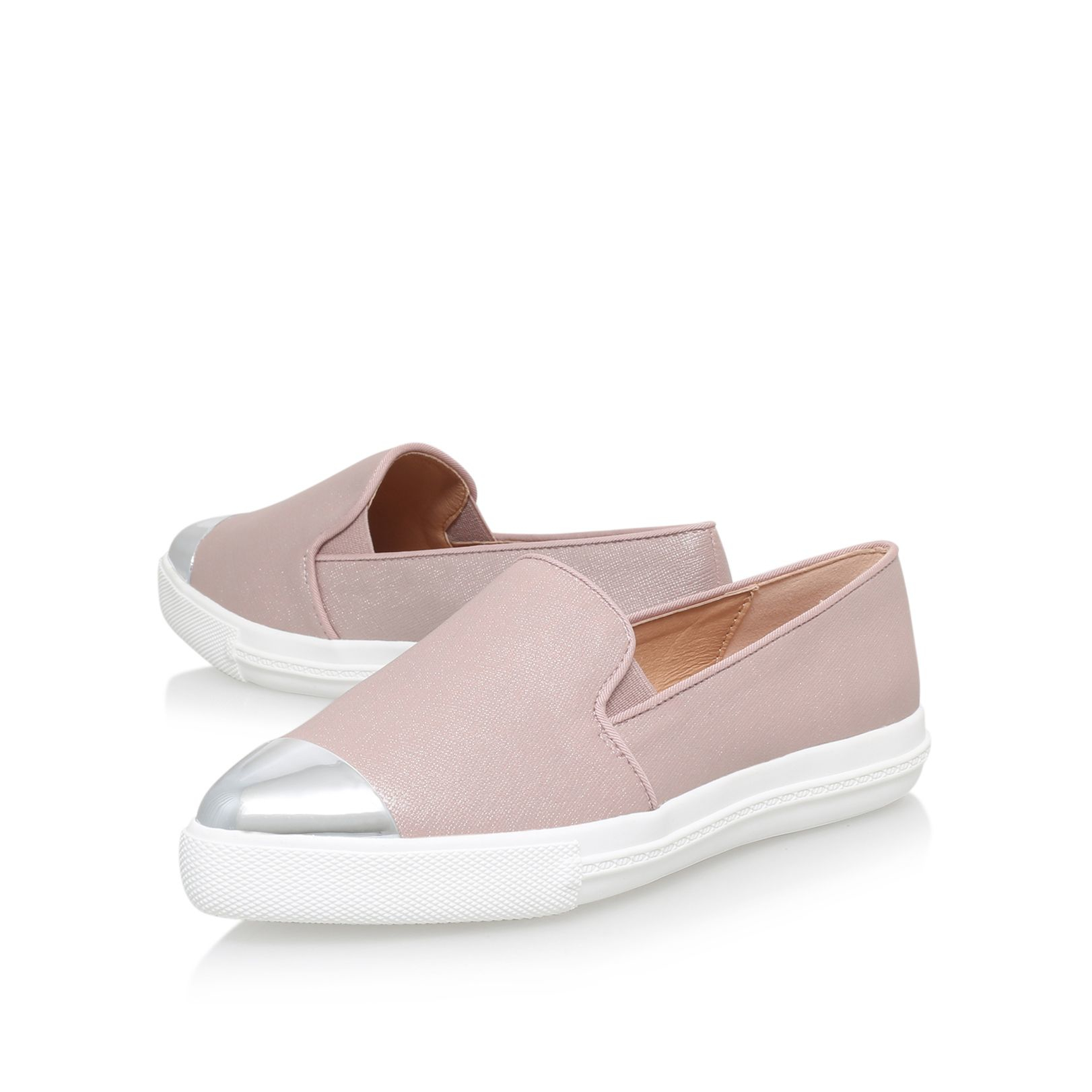 Miss Kg Synthetic Lanette Flat Slip On Sneakers in Pink