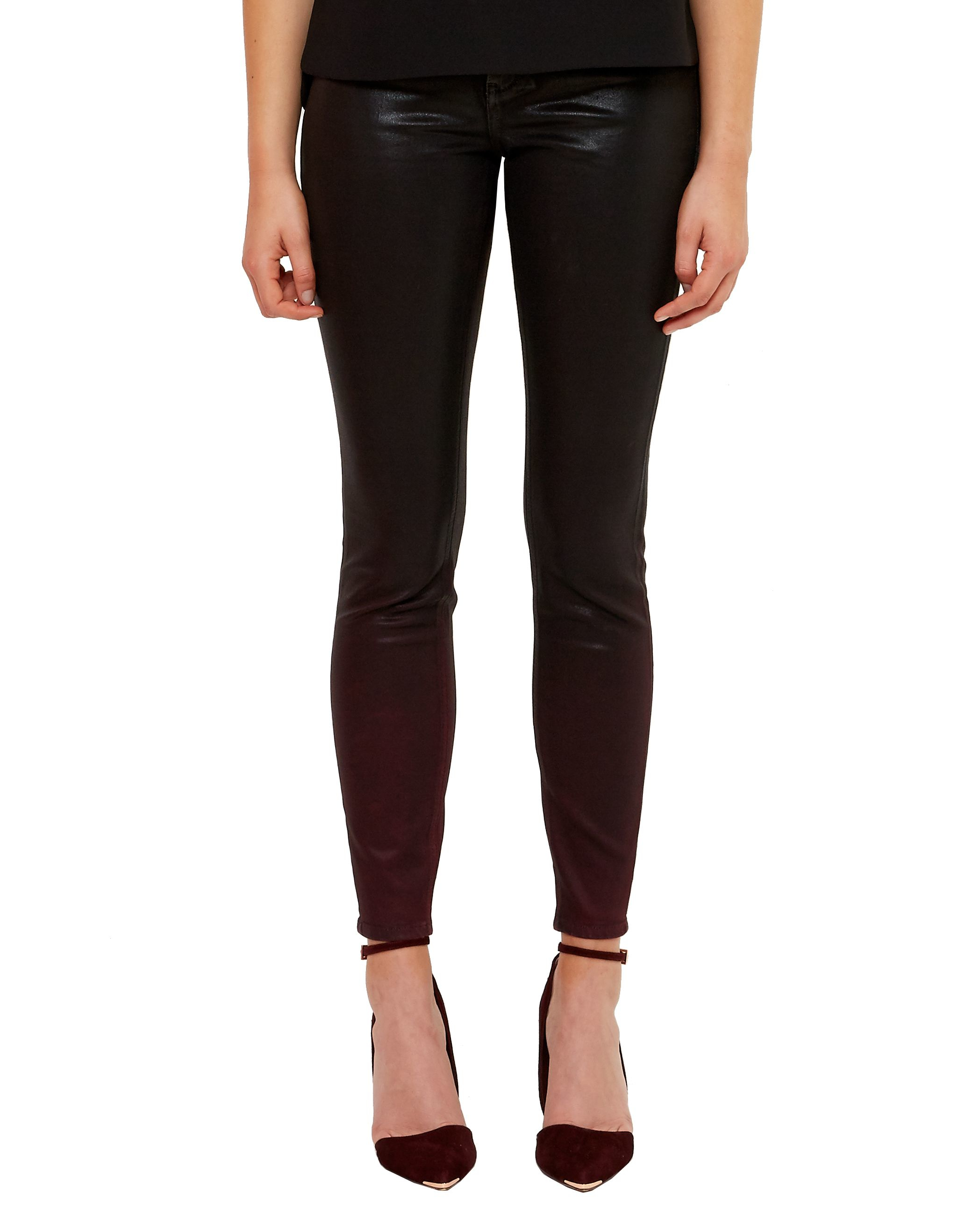 Ted Baker Denim Ombray Ombre Wash Jeans in Red (Black)