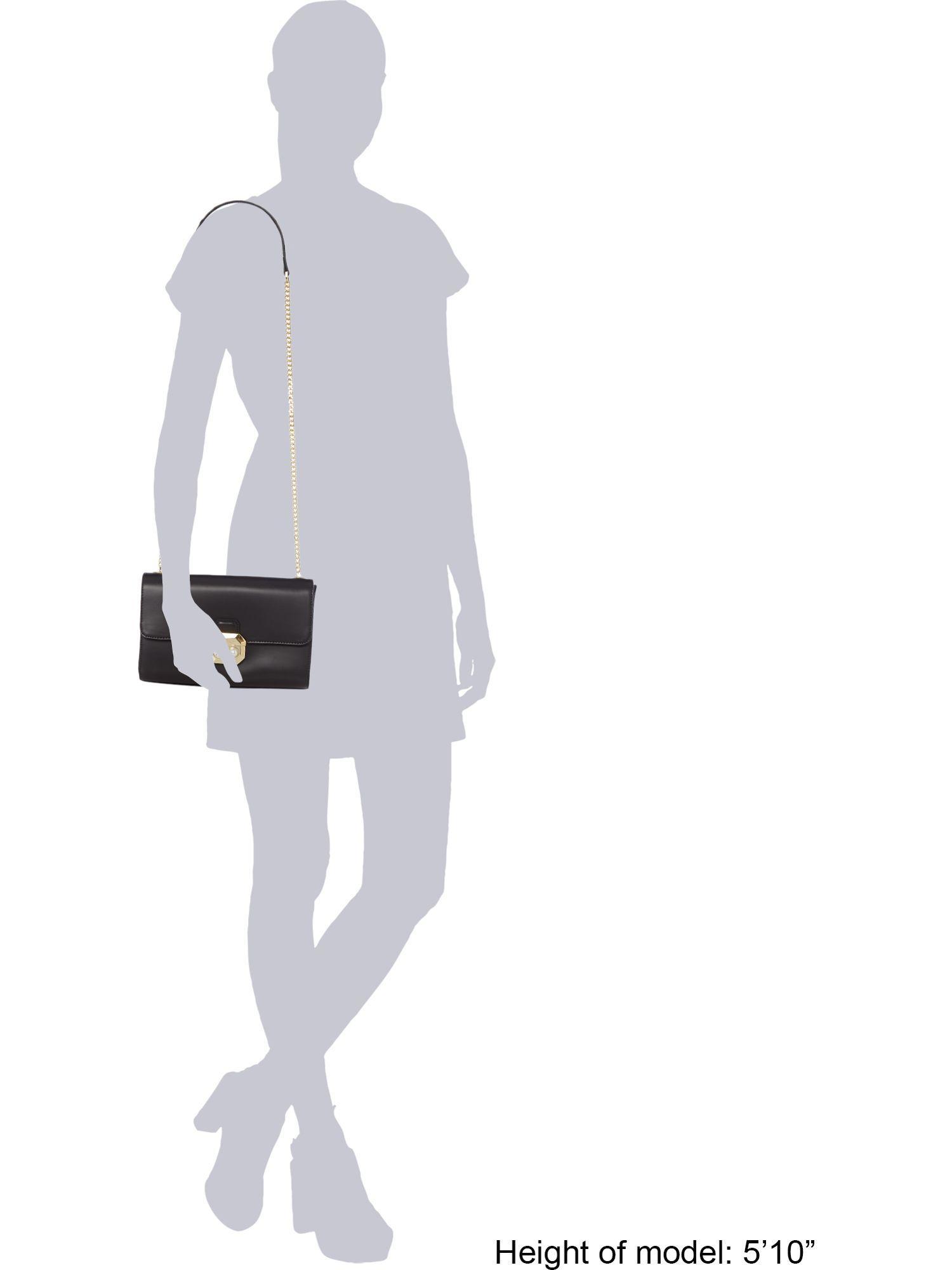 Ted Baker Leather Vinaa Crystal Crossbody Bag in Black