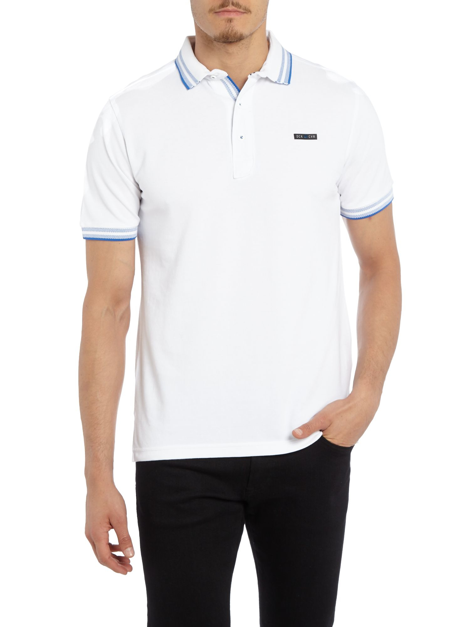 Duck and Cover Cotton Acute Classic Signature Pique Polo Shirt in White for Men