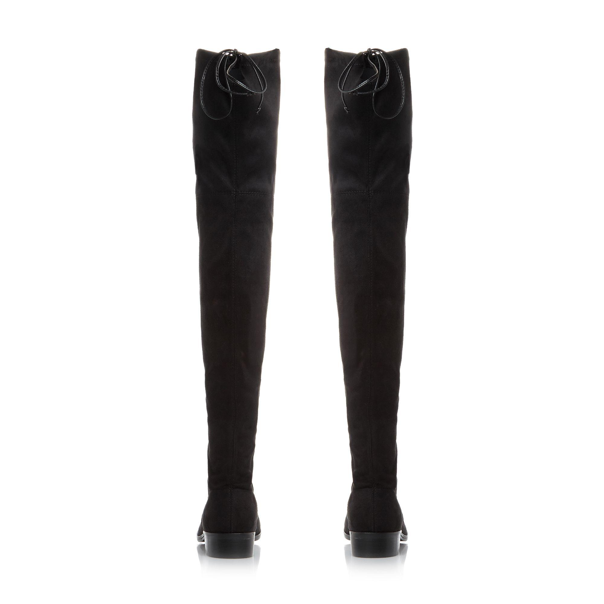 Steve Madden Odina Black Tie Flat Boots