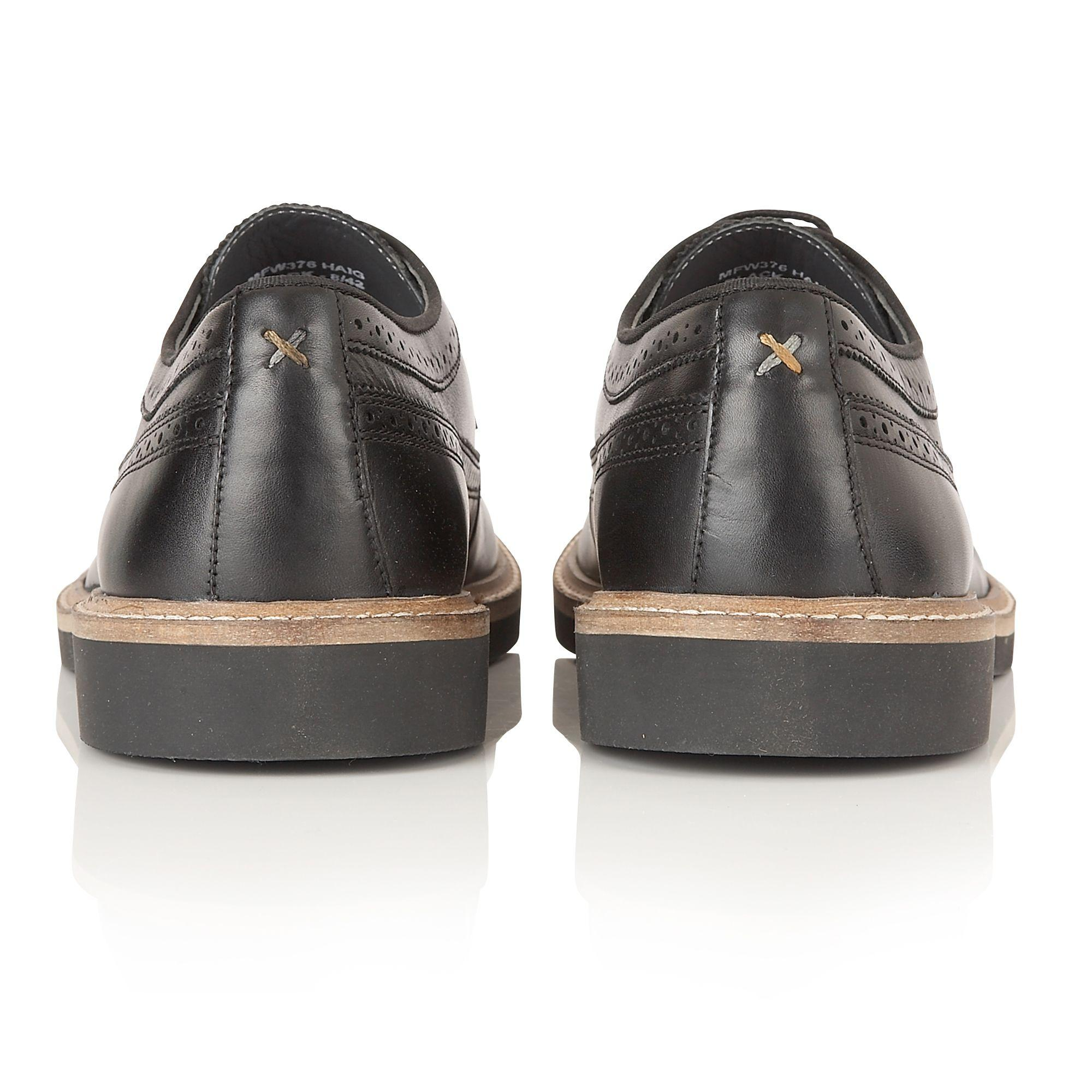 Frank Wright Leather Haig Mens Shoes in Black for Men