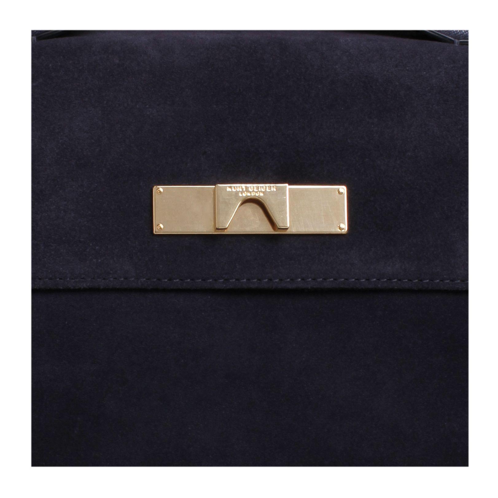 Kurt Geiger Suede Britt Tote Bag in Navy (Blue)