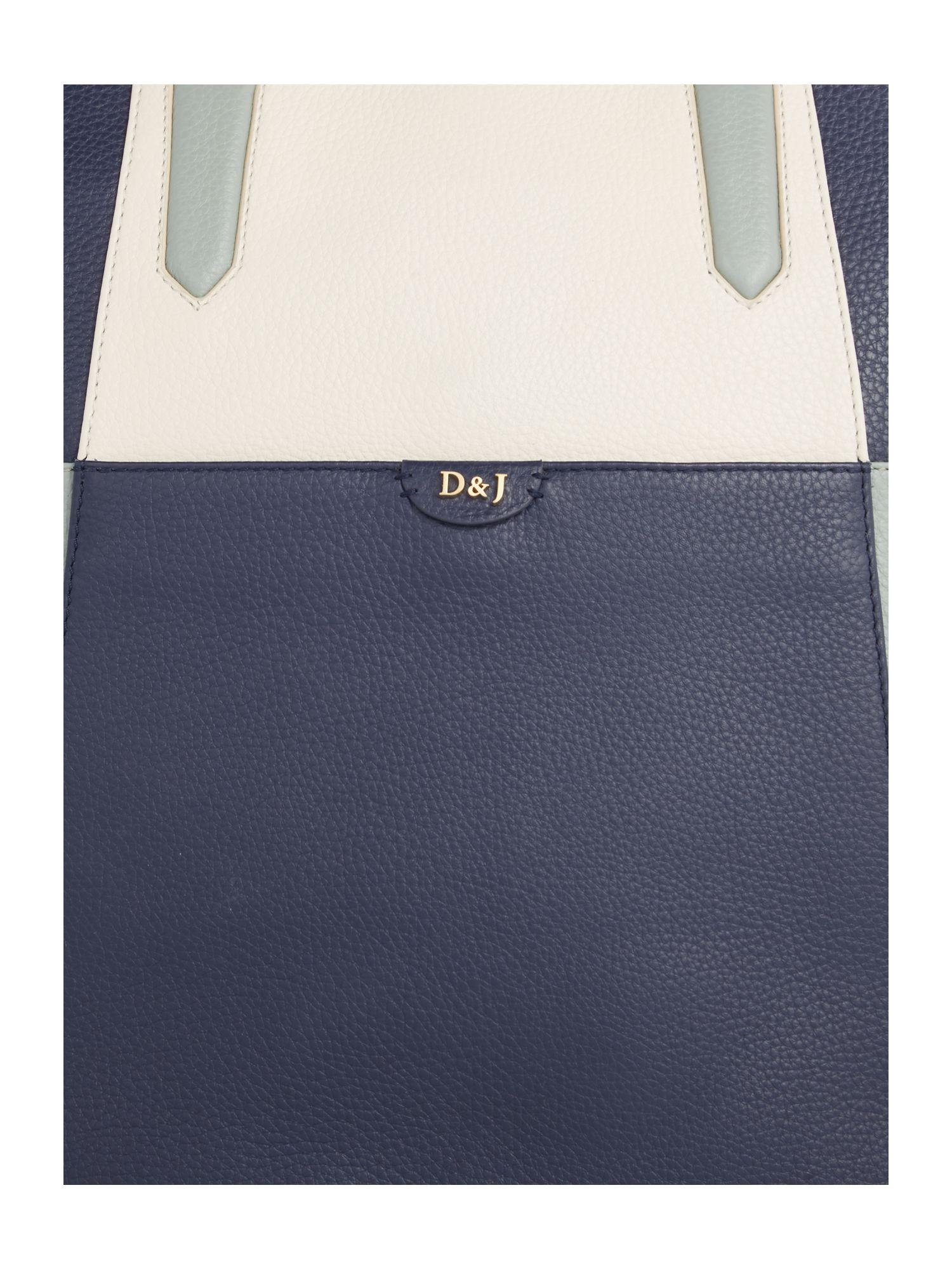 Dickins & Jones Leather Embry Tote Bag in Blue