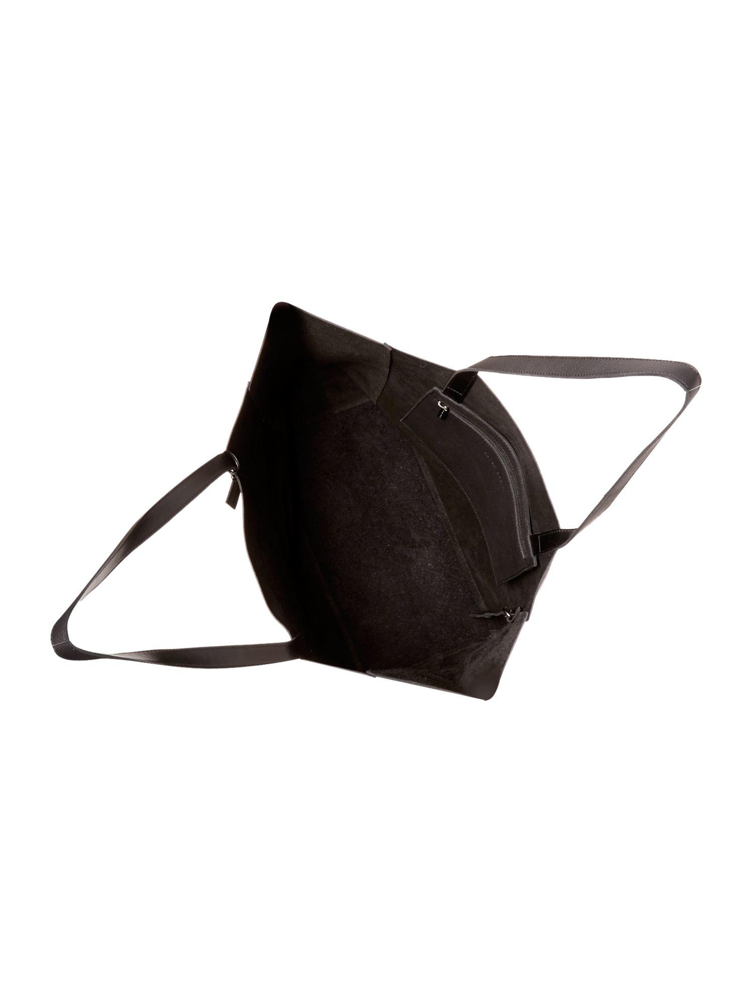 Sarah Pacini Leather Large Tote Bag in Black