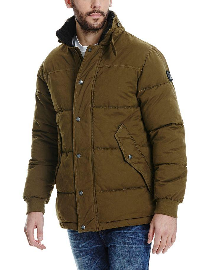 Bench Synthetic Wherewithal B Puffer Jacket in Dark Brown (Brown) for Men