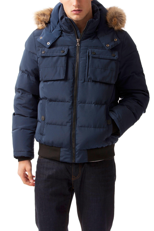 tommy hilfiger jamie down bomber jacket in blue for men lyst. Black Bedroom Furniture Sets. Home Design Ideas