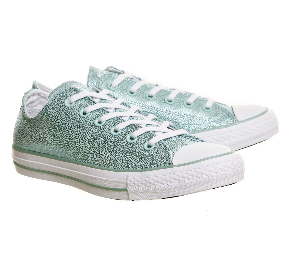 Converse Rubber All Star Low Trainers in Metallic