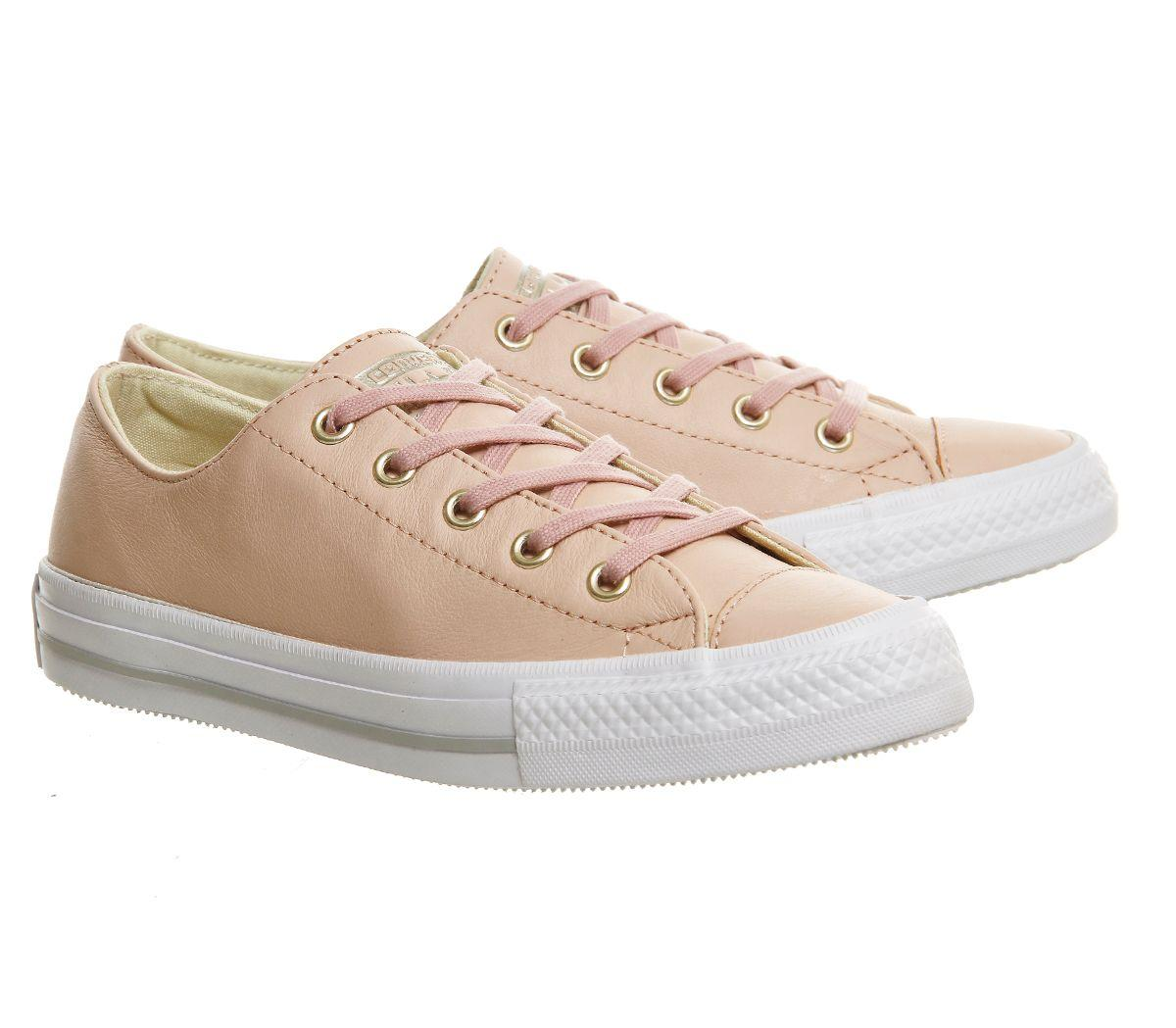 Converse Ctas Gemma Low Leather Trainers in Beige (Natural)