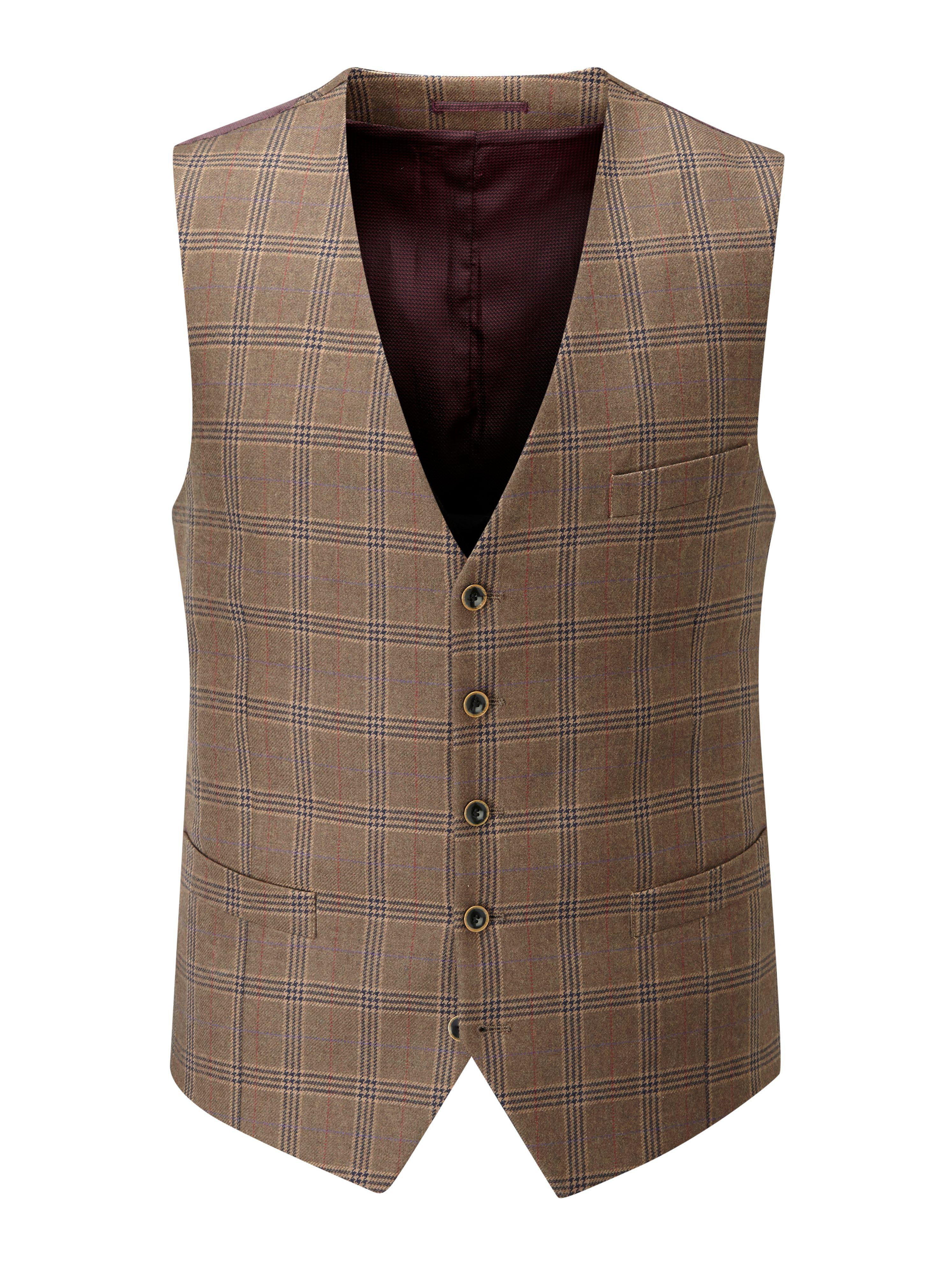 Skopes Hughes Waistcoat In Brown For Men Lyst