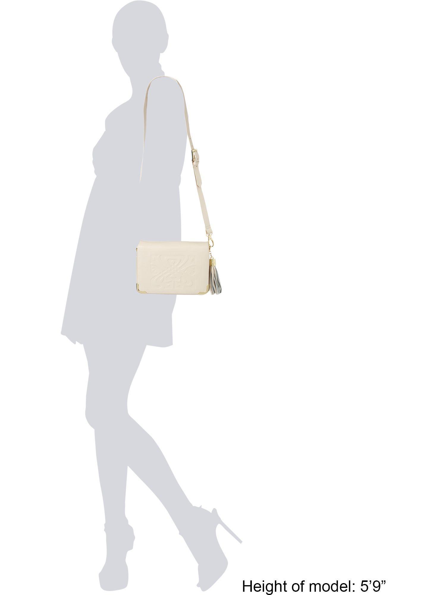 Biba Leather Gretal Crossbody Bag in Beige (Natural)
