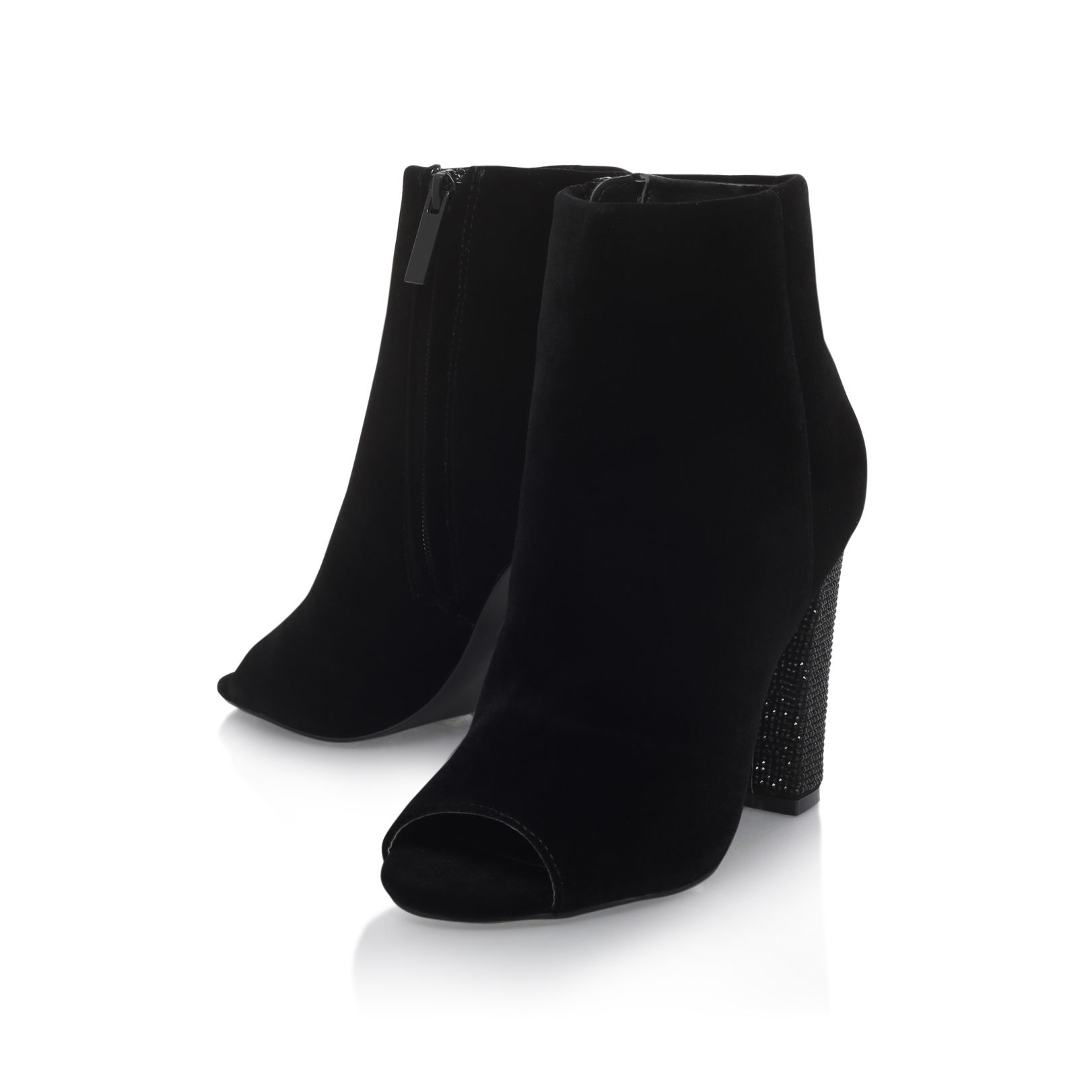Miss Kg Synthetic Slender High Heel Shoe Boots in Black