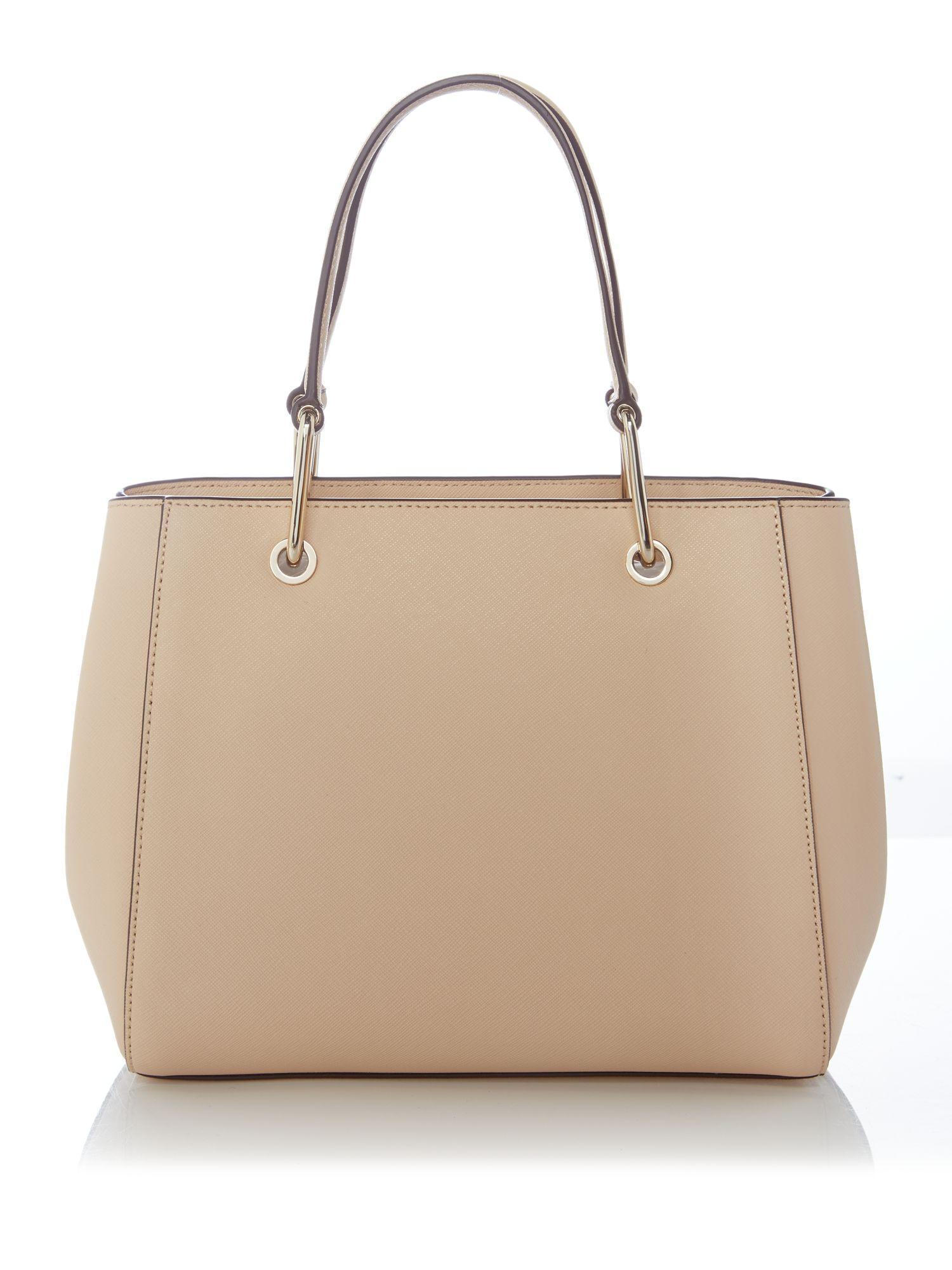 DKNY Leather Saffiano Mini Tote Bag