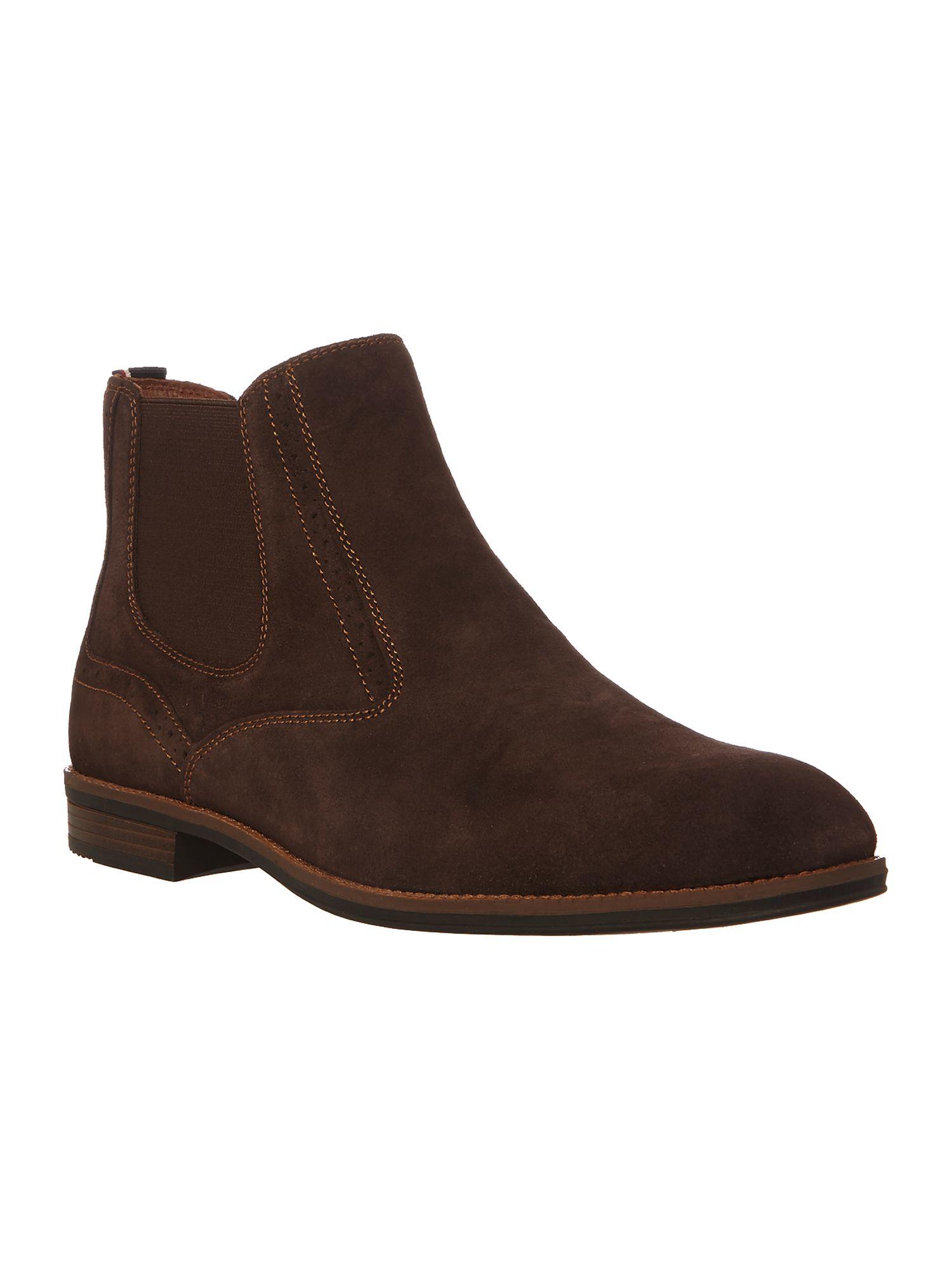 tommy hilfiger colton chelsea boots in brown for men lyst. Black Bedroom Furniture Sets. Home Design Ideas