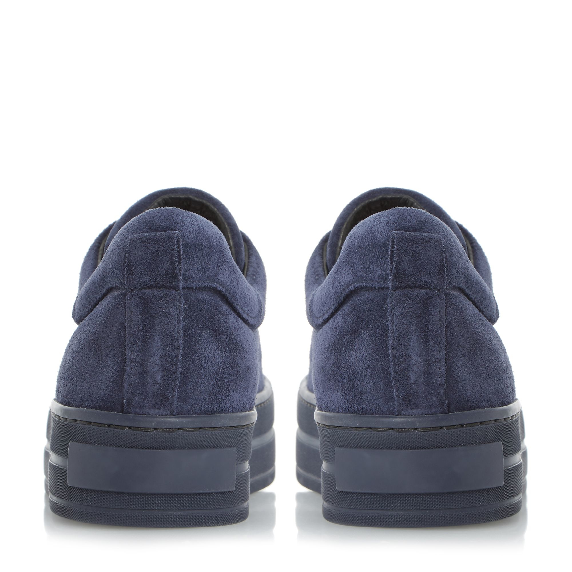 Dune Black Leather Export All Tonal Trainers in Navy (Blue)