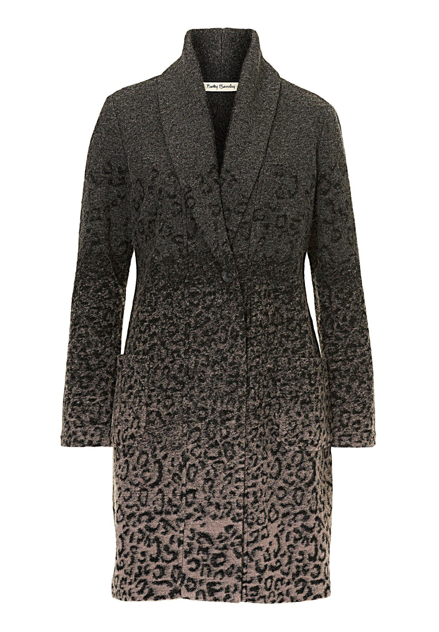 betty barclay unlined animal print jacket in gray lyst. Black Bedroom Furniture Sets. Home Design Ideas