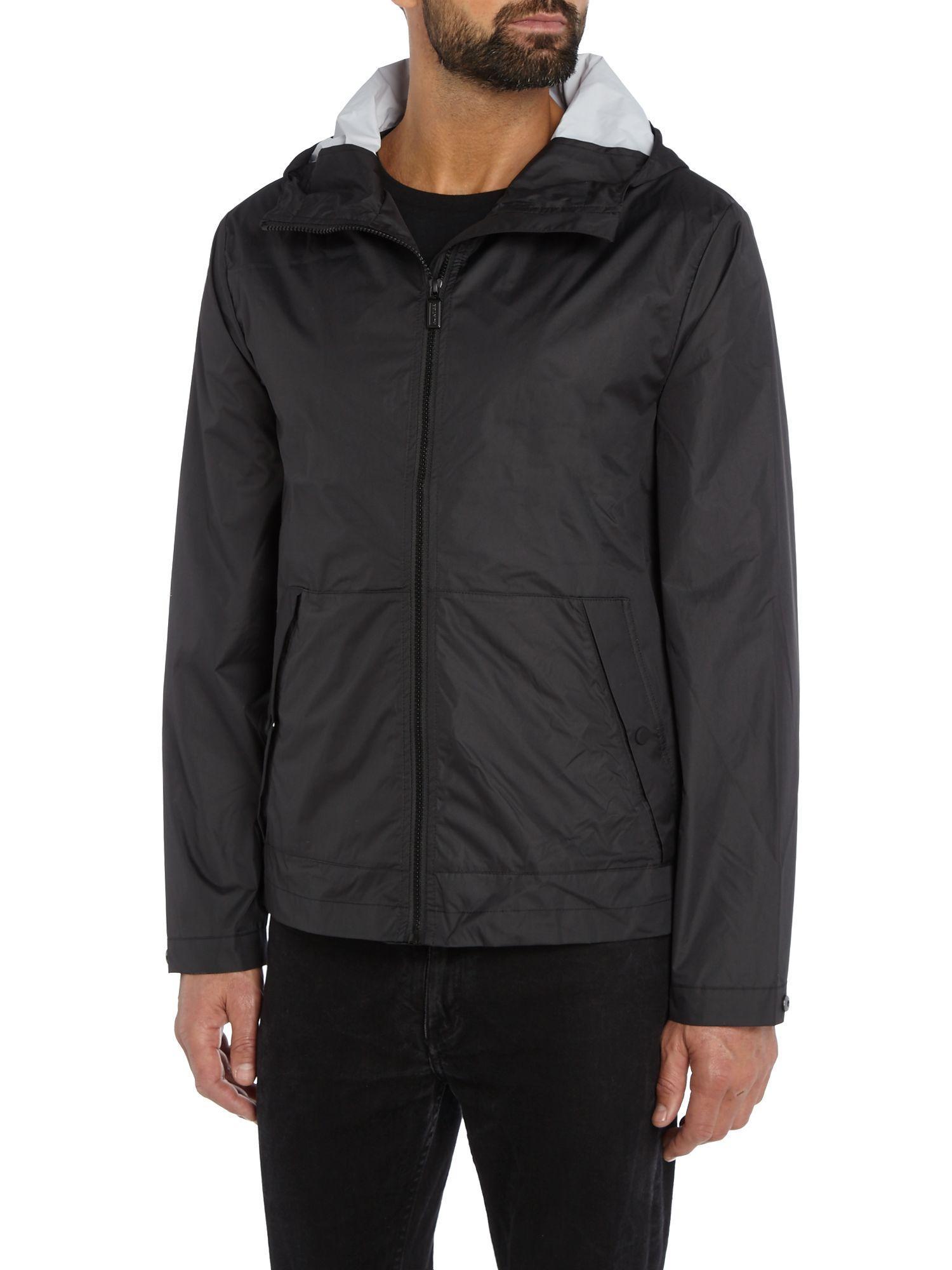 HUNTER Synthetic Blouson Light-weight Jacket in Black for Men