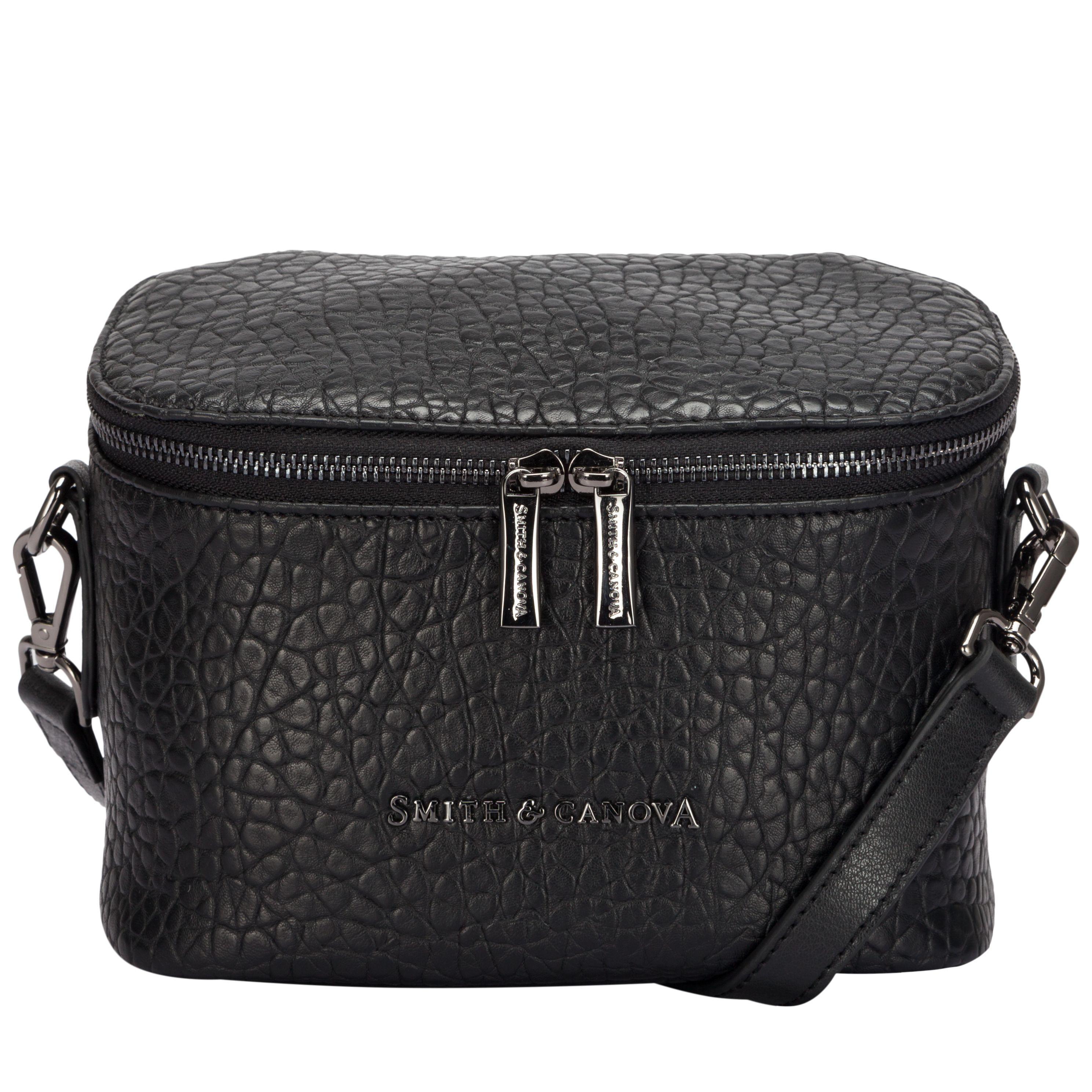 Smith & Canova Leather Marta Cross Bady Bag in Black