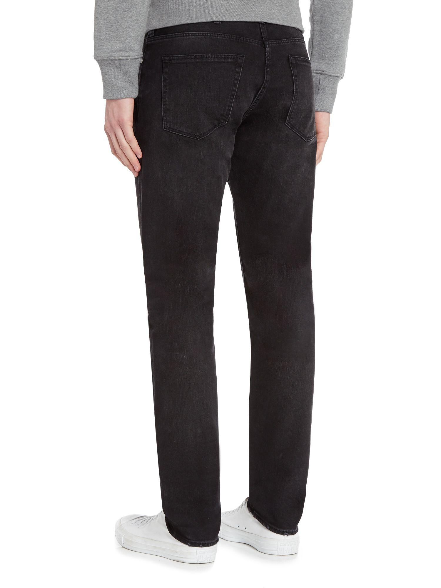 PS by Paul Smith Denim Tapered Stretch Fit Black Wash Jeans for Men