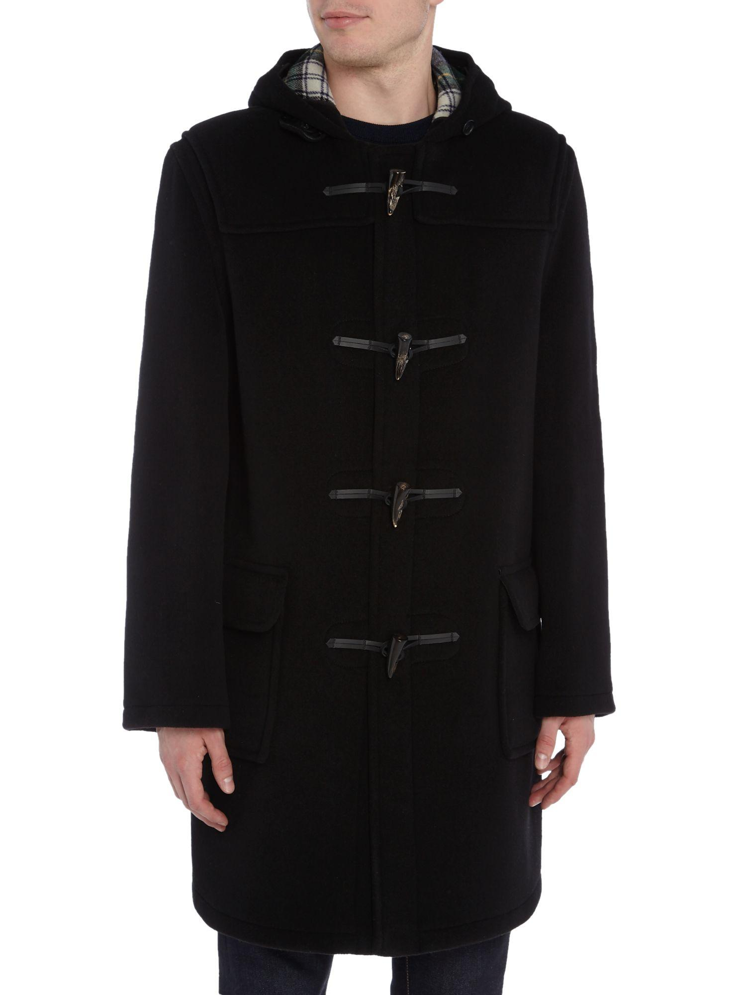 Gloverall Classic Duffle Coat in Black for Men | Lyst
