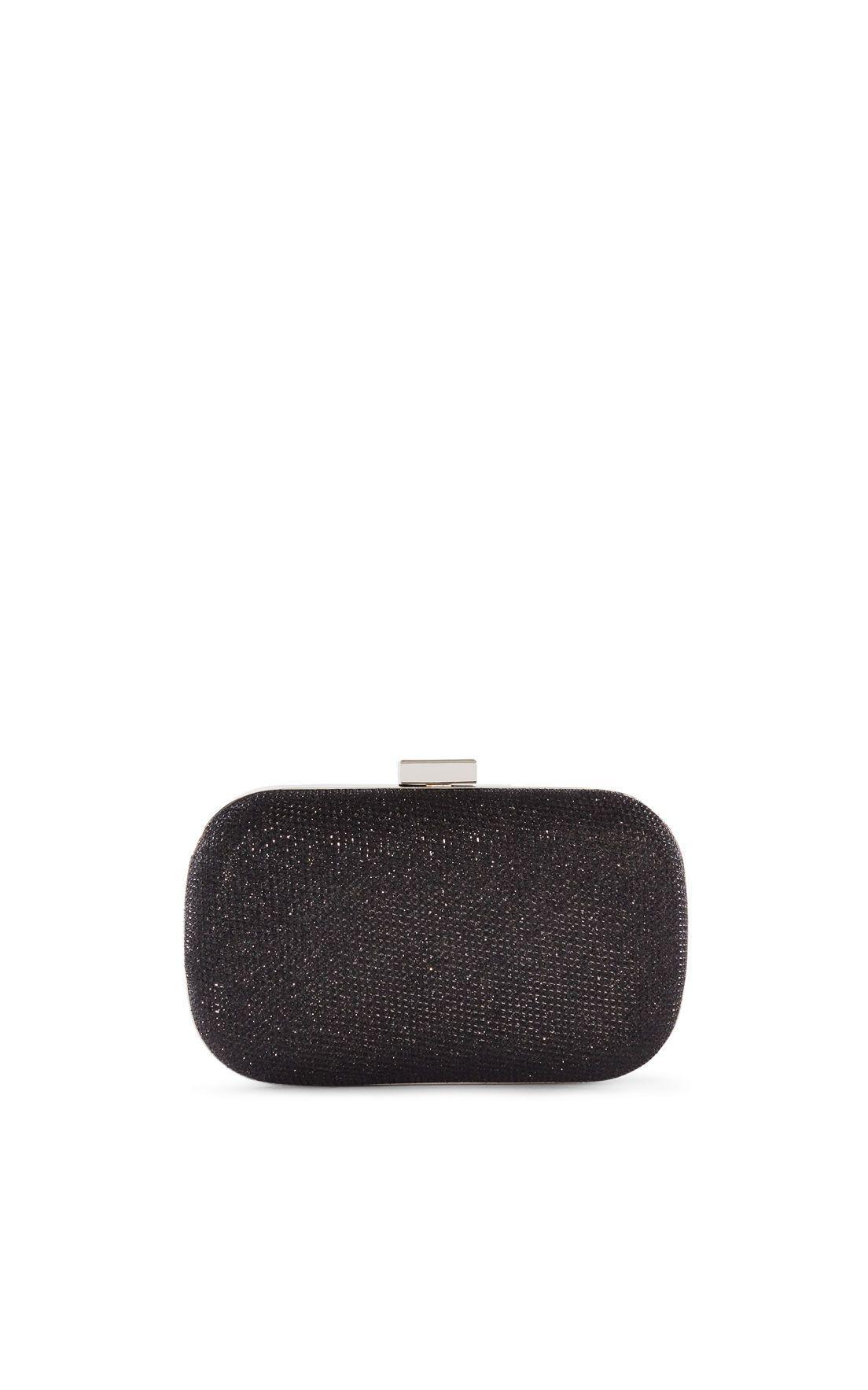 Lyst Karen Millen Sparkle Clutch In Black