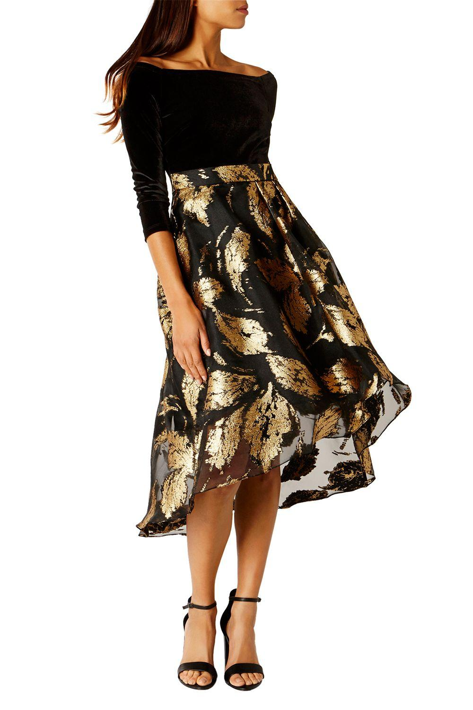 Coast Maneela Jacquard Dress In Black Lyst