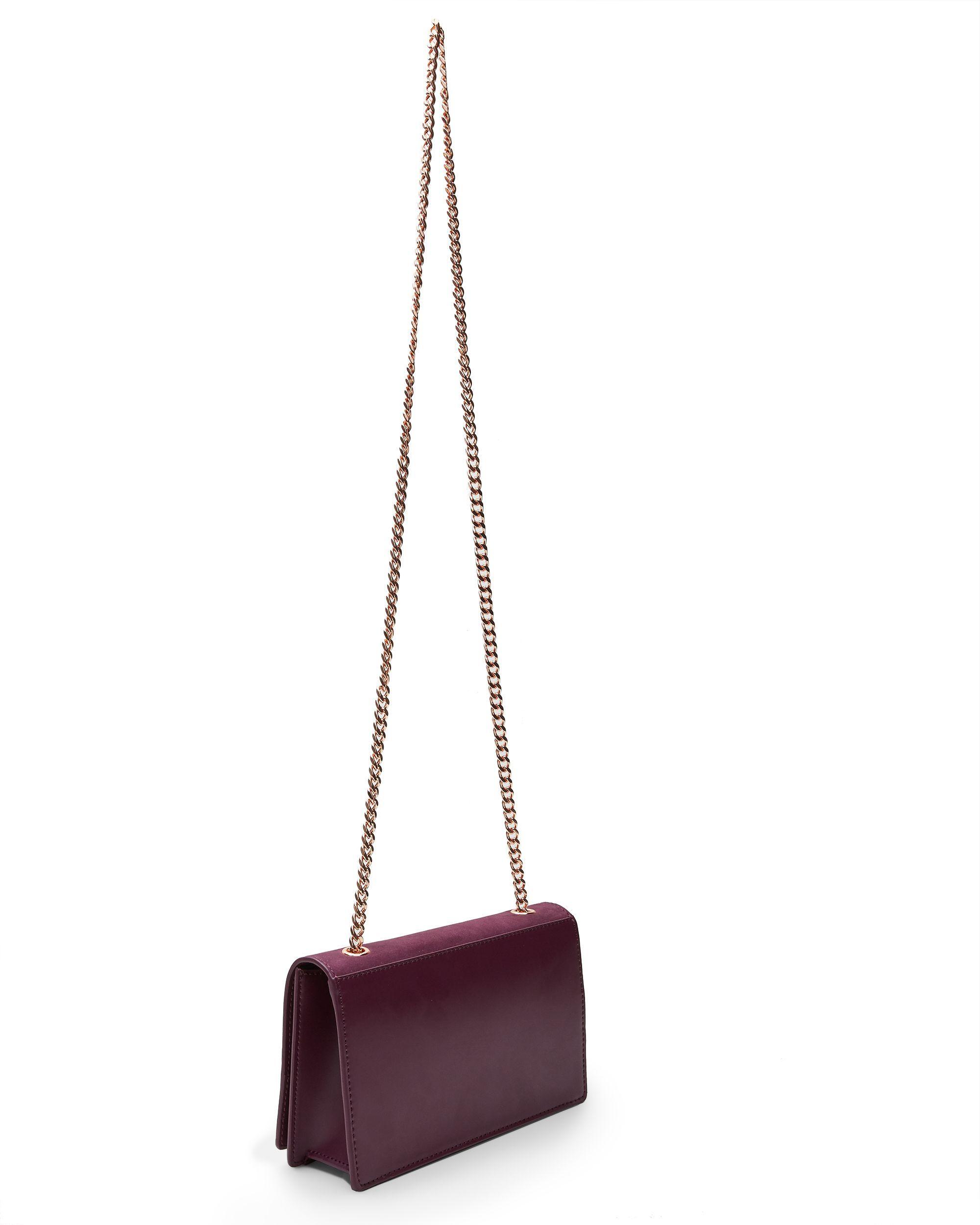 Ted Baker Avianna Studded Suede Cross Body Bag in Purple