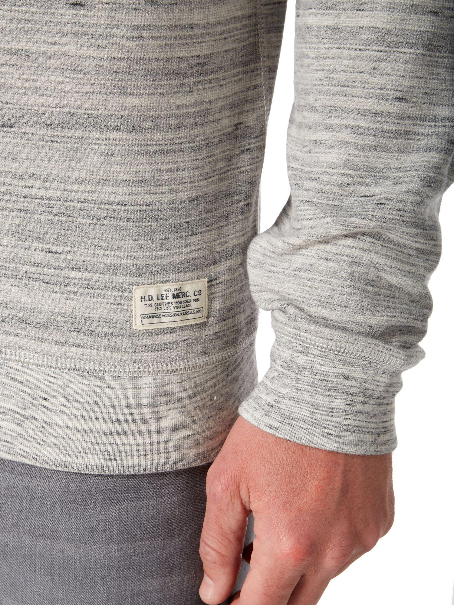 Lee Jeans Cotton Space Dye Crew Neck Sweat Top in Grey Marl (Grey) for Men