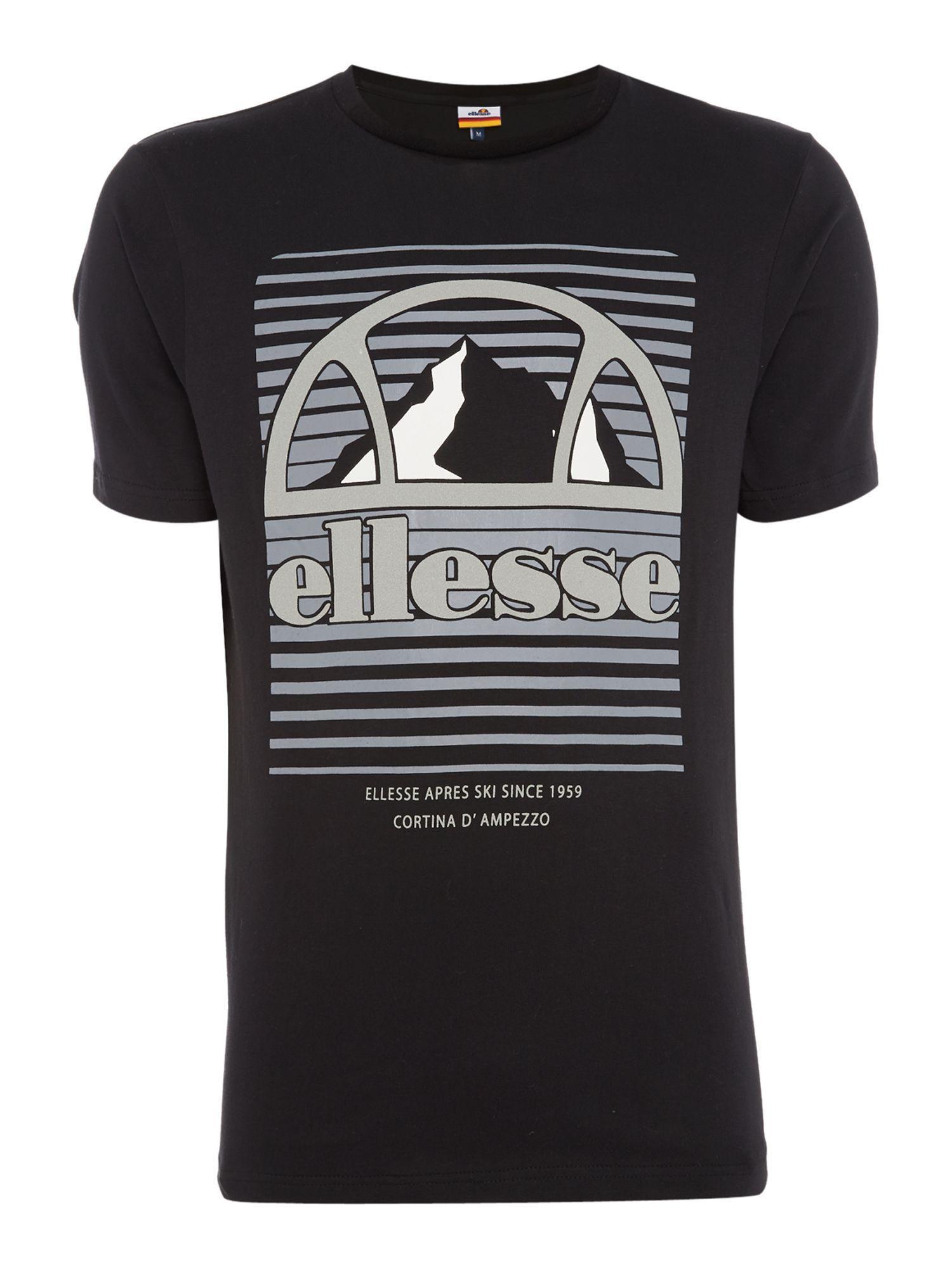 Lyst ellesse masina logo t shirt in black for men for Lands end logo shirts