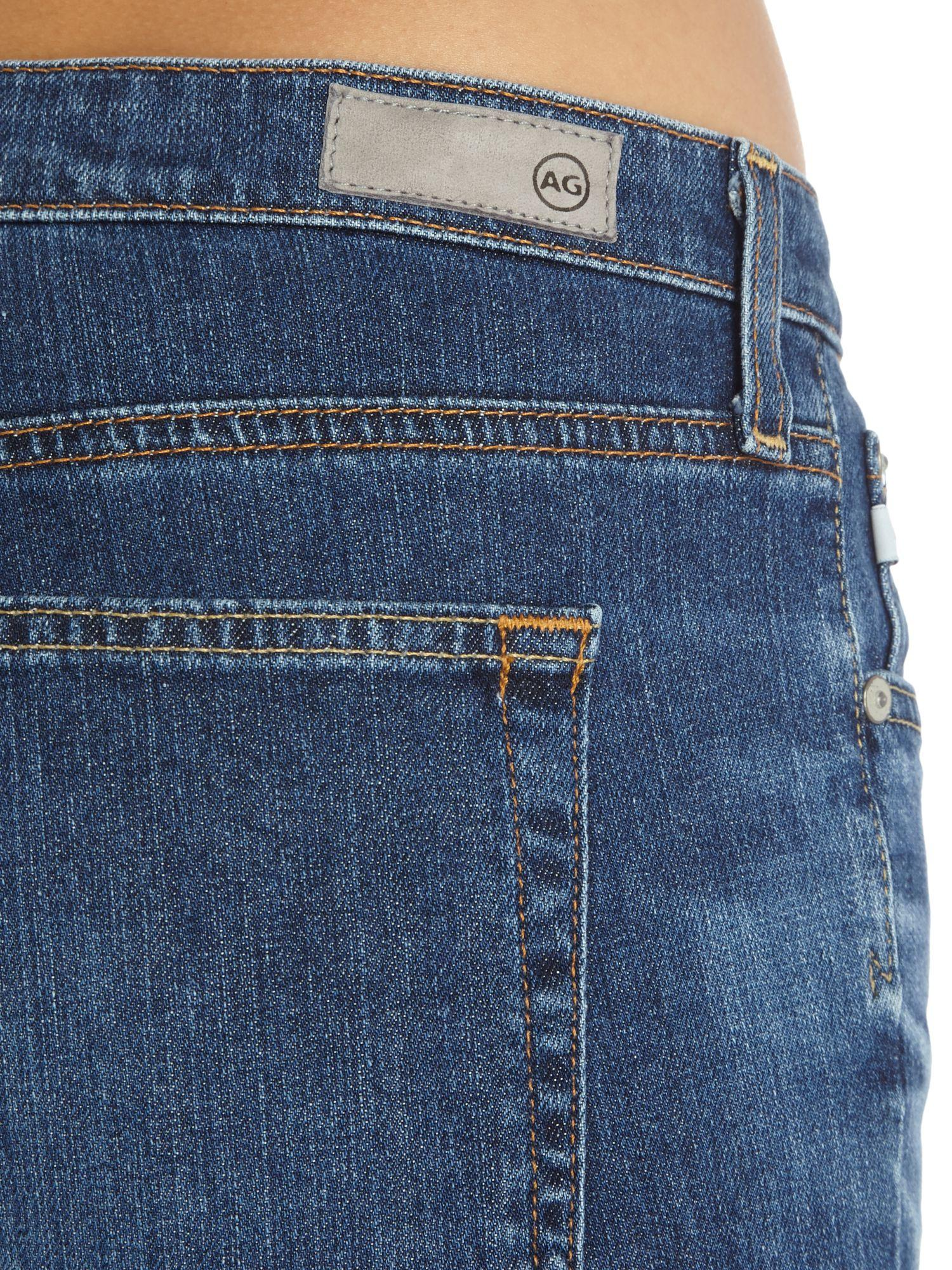 AG Jeans Denim Jodi Cropped Mini Flare Jean In 10 Years Wich in Denim Dark Wash (Blue)