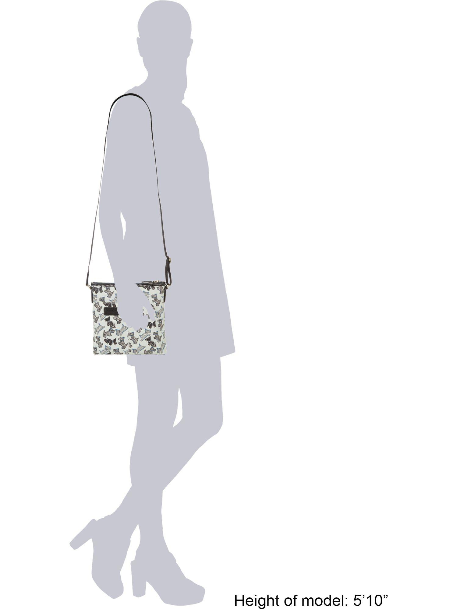 Radley Fleet Street Small Ziptop Crossbody Bag in Ivory (White)