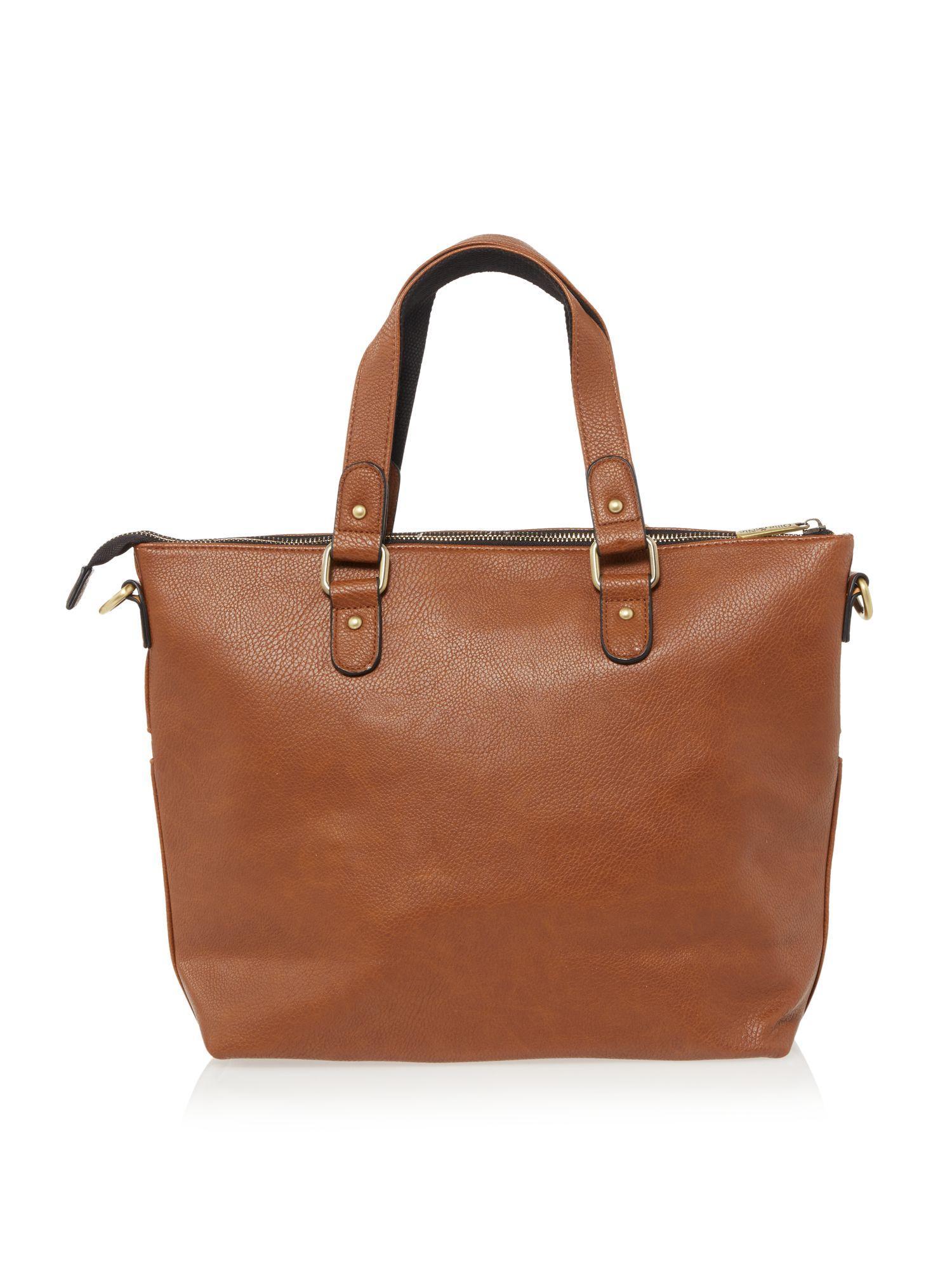 Ollie & Nic Duke Medium Tote Bag in Tan (Brown)