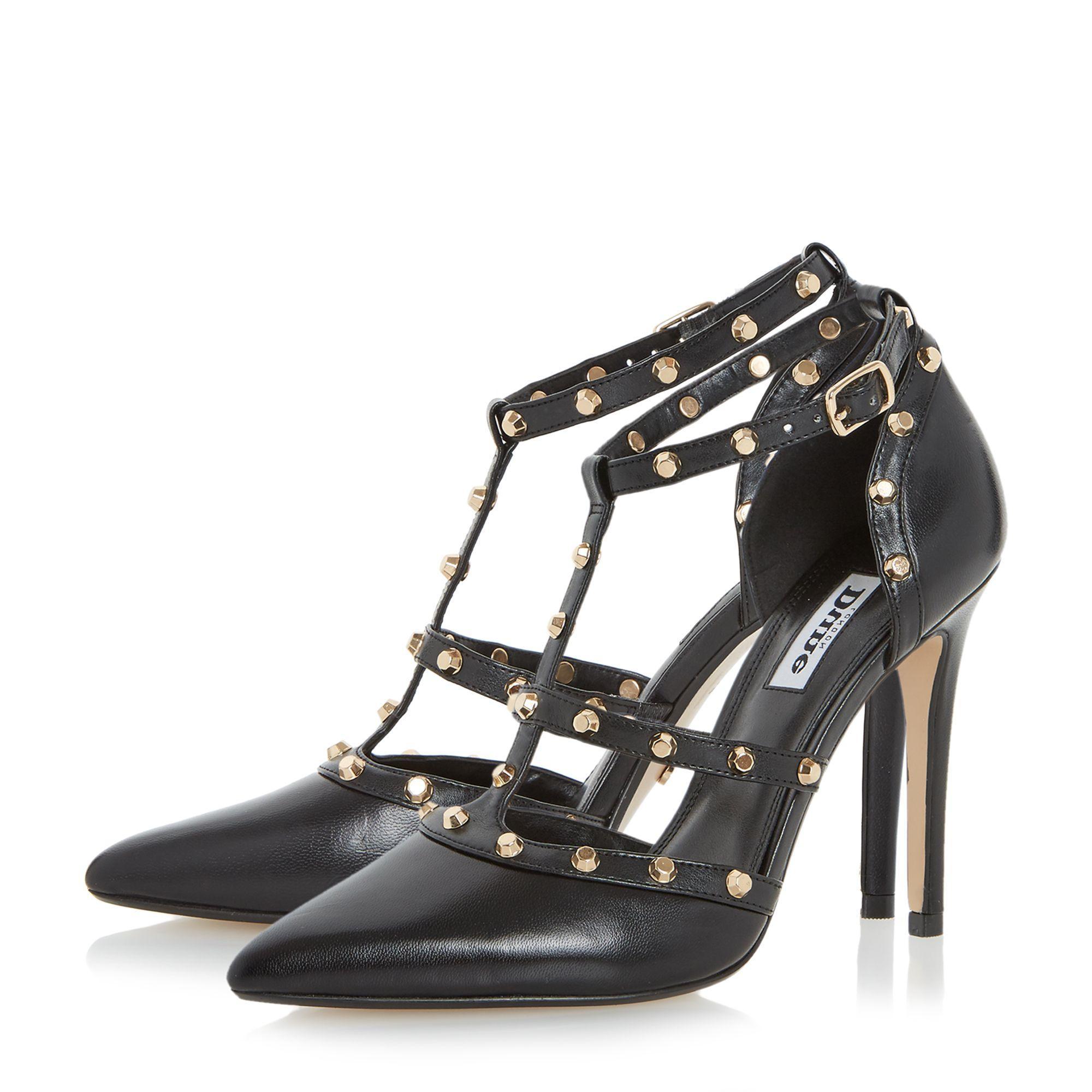 Dune Daenerys Studded Court Shoes