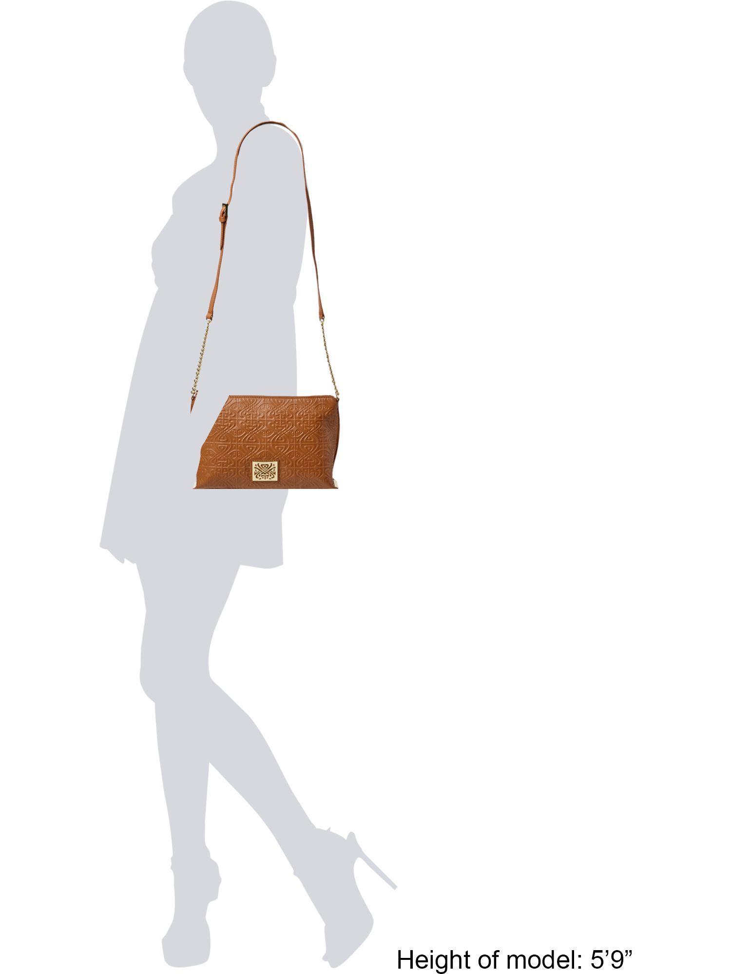 Biba Leather Constance Crossbody Bag in Brown