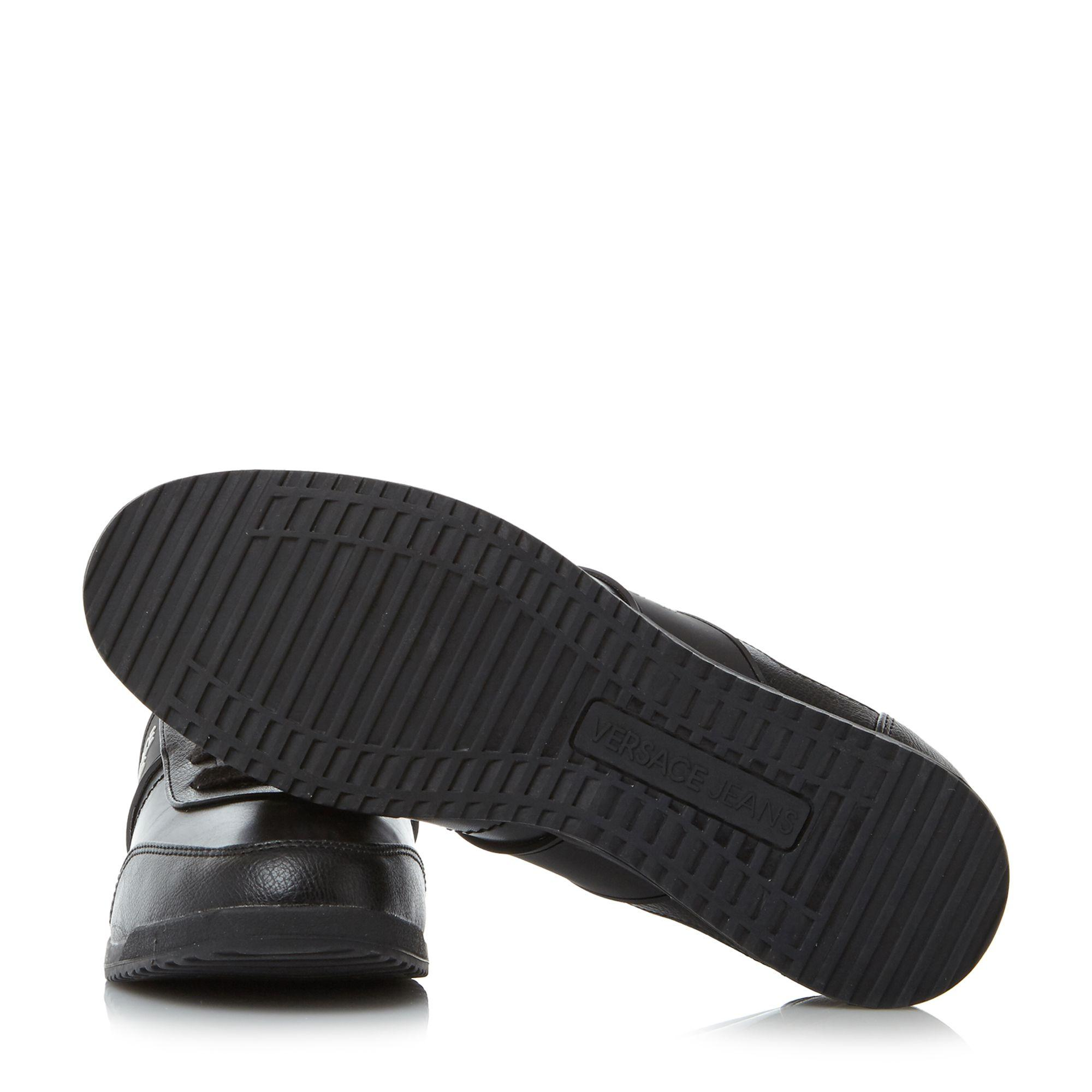Versace Jeans Couture Ypbsb3 Plain Leather Trainers in Black for Men