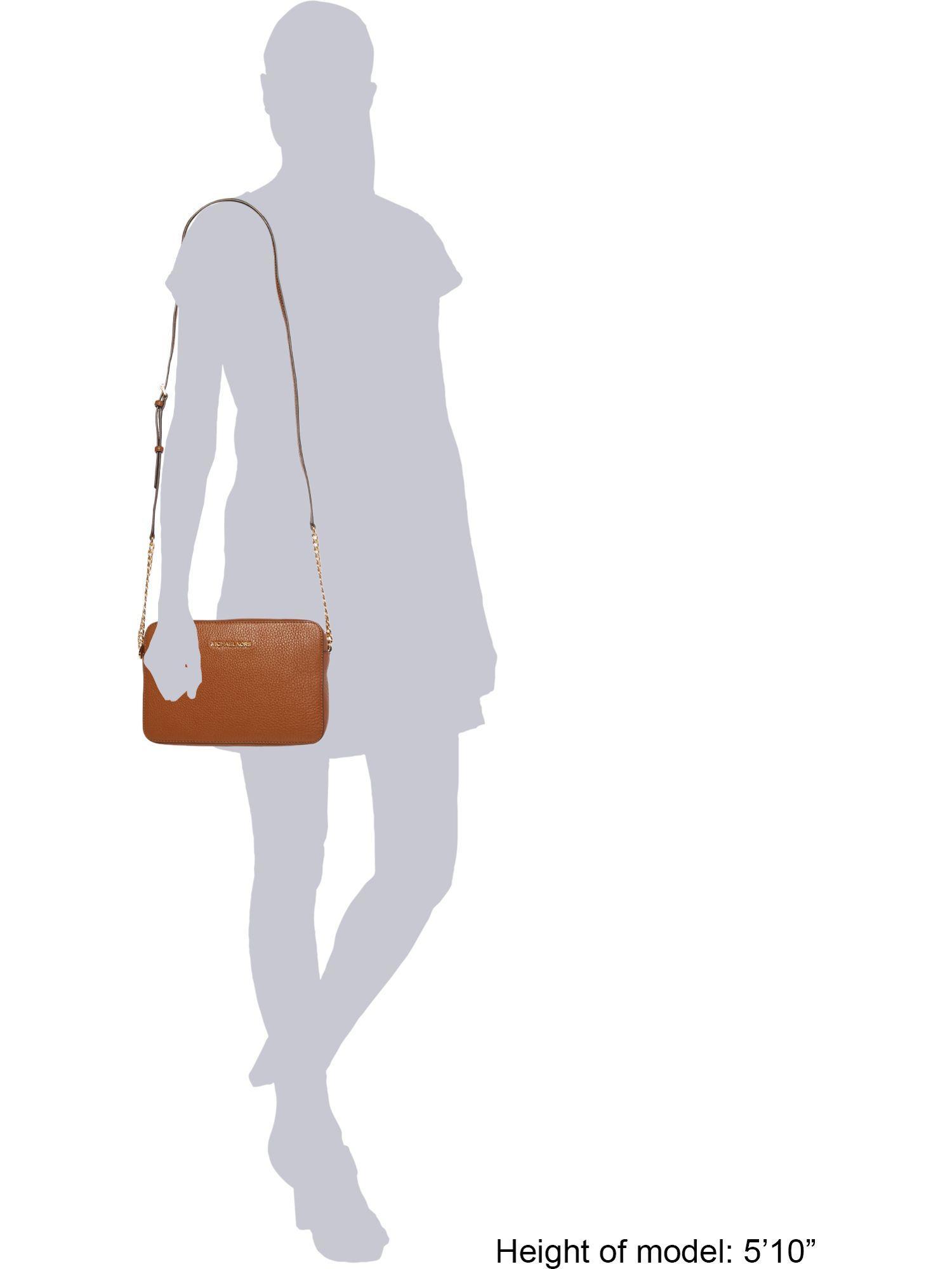Michael Kors Leather Bedford Crossbody Bag in Tan (Brown)