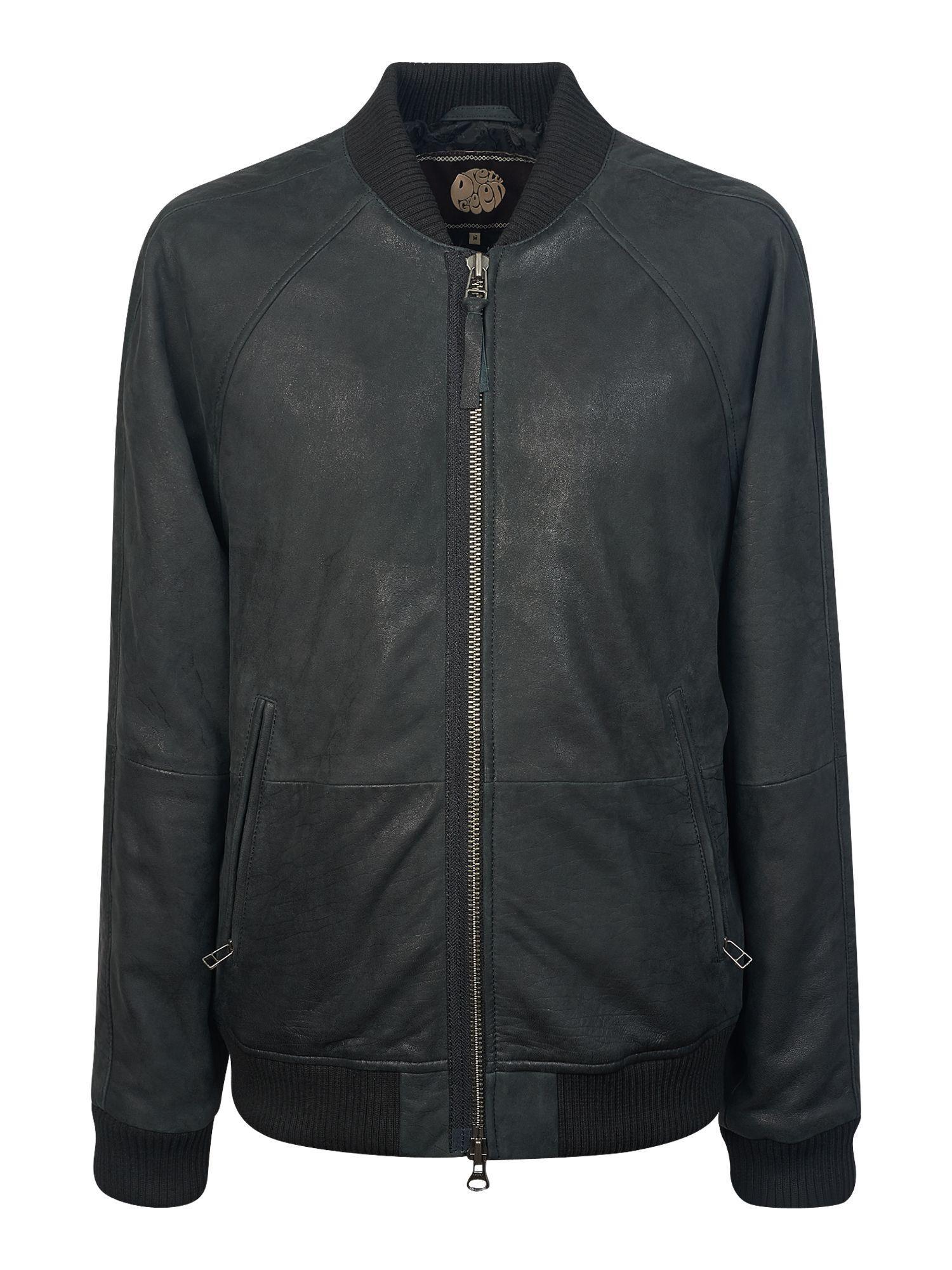 Pretty green leather jacket sale
