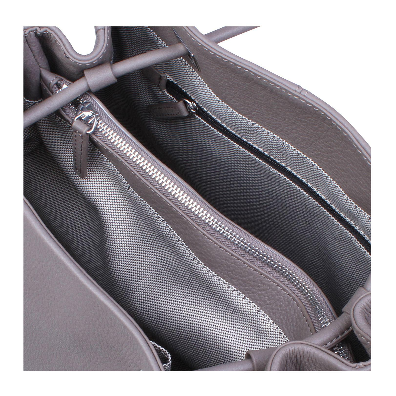 Vince Camuto Leather Cava Tote in Light Grey (Grey)