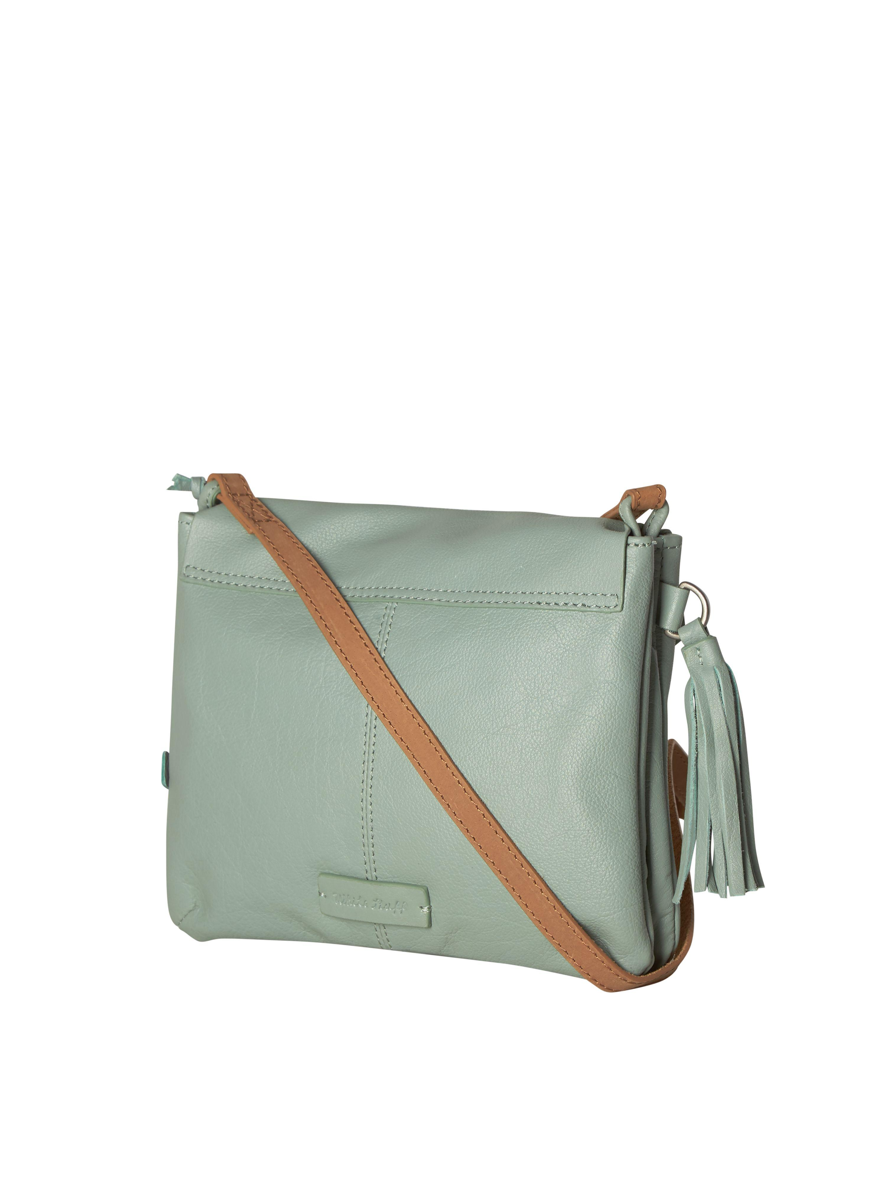 White Stuff Leather Mandy Crossbody Bag in Green