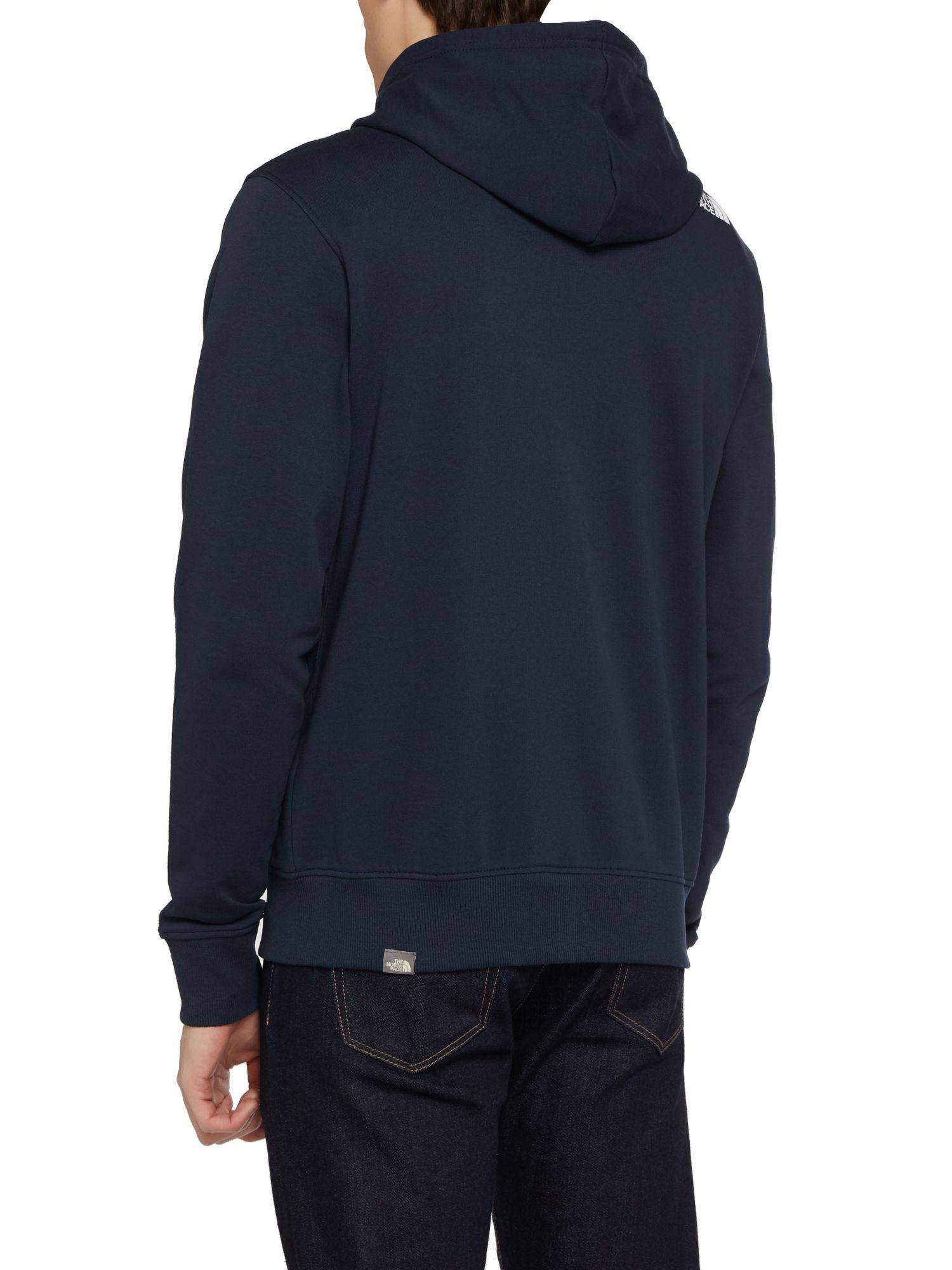 The North Face Cotton Open Gate Full Zip Hoodie in Navy (Blue) for Men